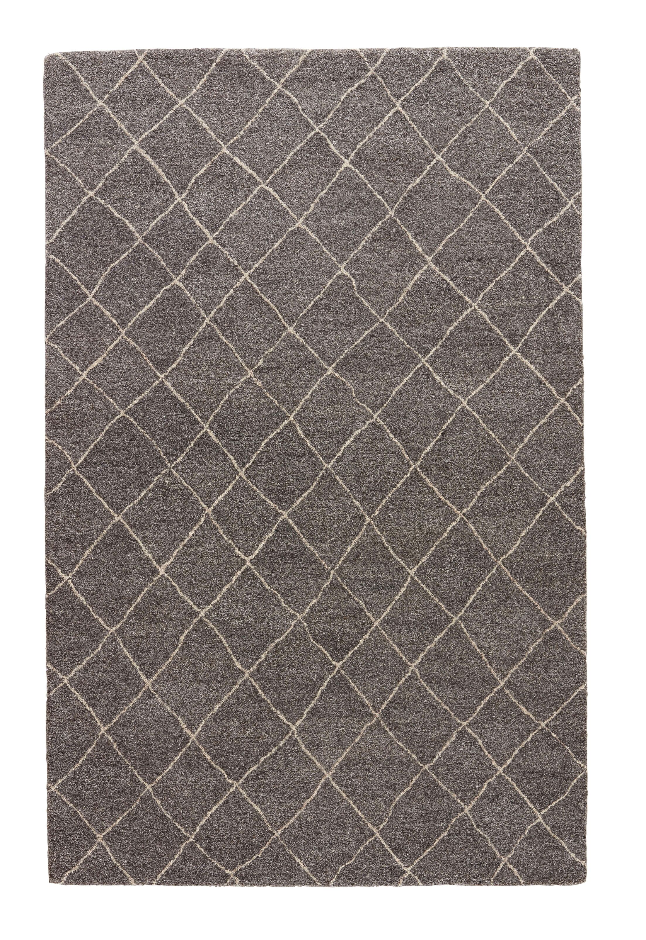 Reyansh Hand-Woven Wool Gray/Ivory Rug Rug Size: Rectangle 2' x 3'