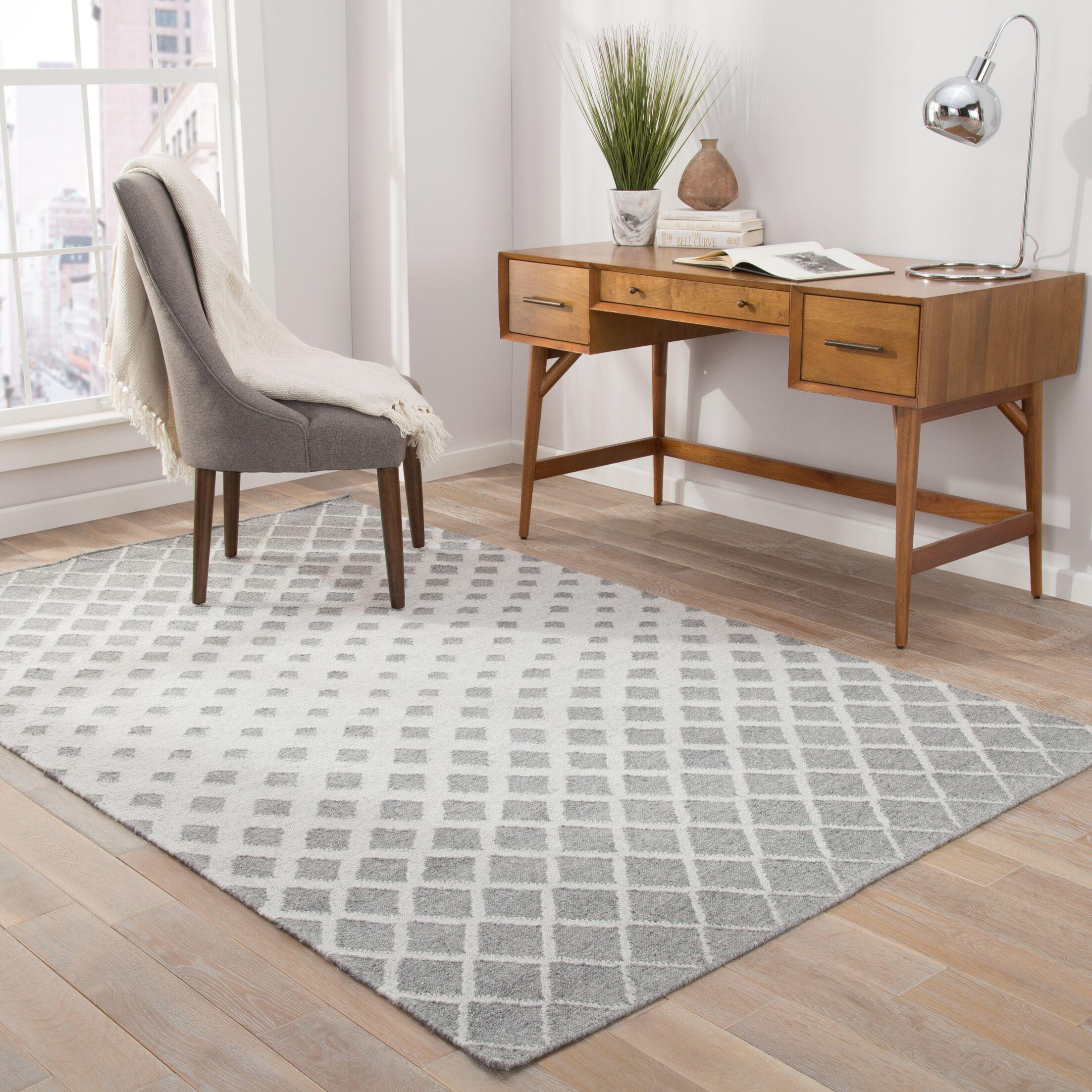 Heinz Gray Indoor/Outdoor Area Rug Rug Size: Rectangle 8' x 10'