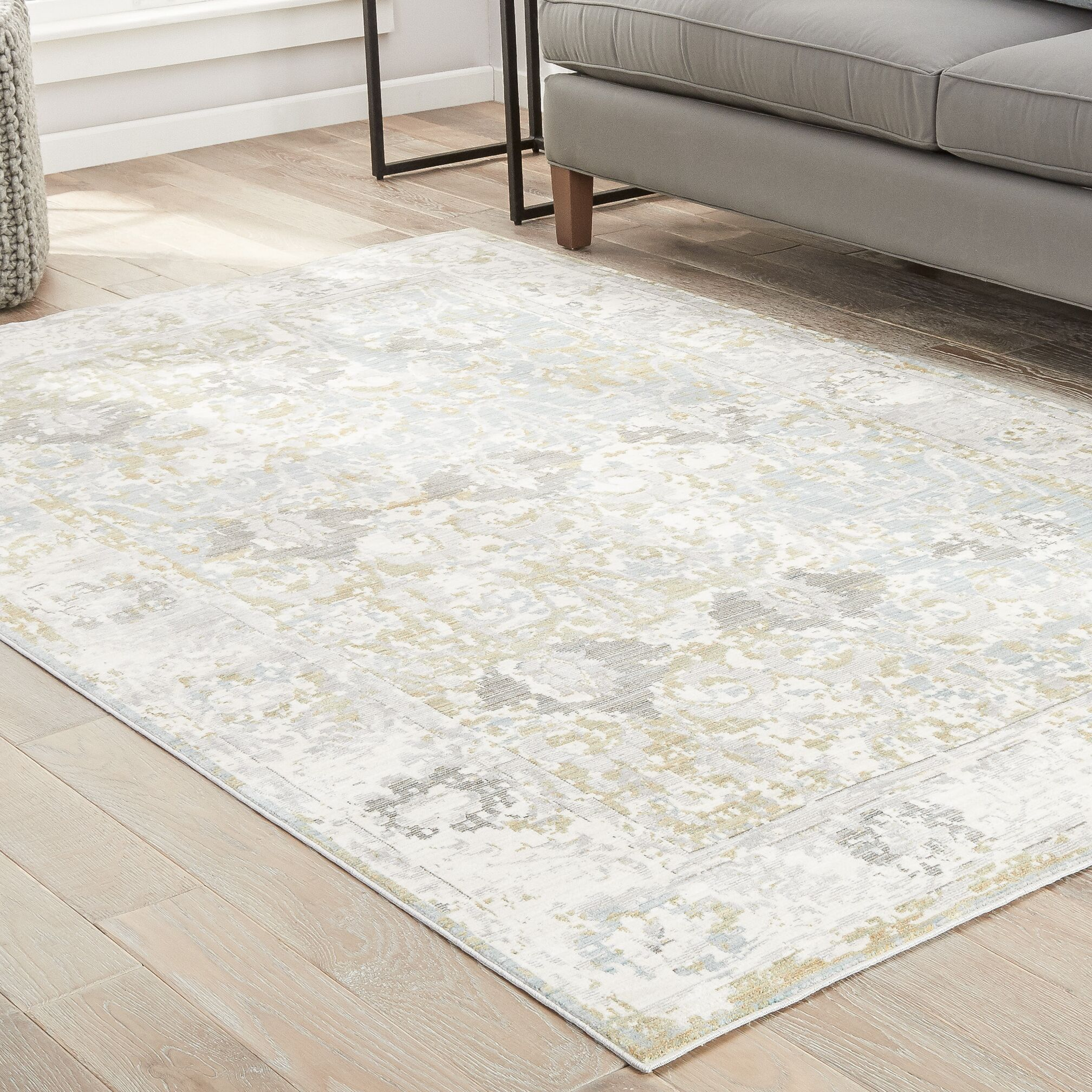 Carly Antique White/Tourmaline Area Rug Rug Size: Rectangle 10' x 14'