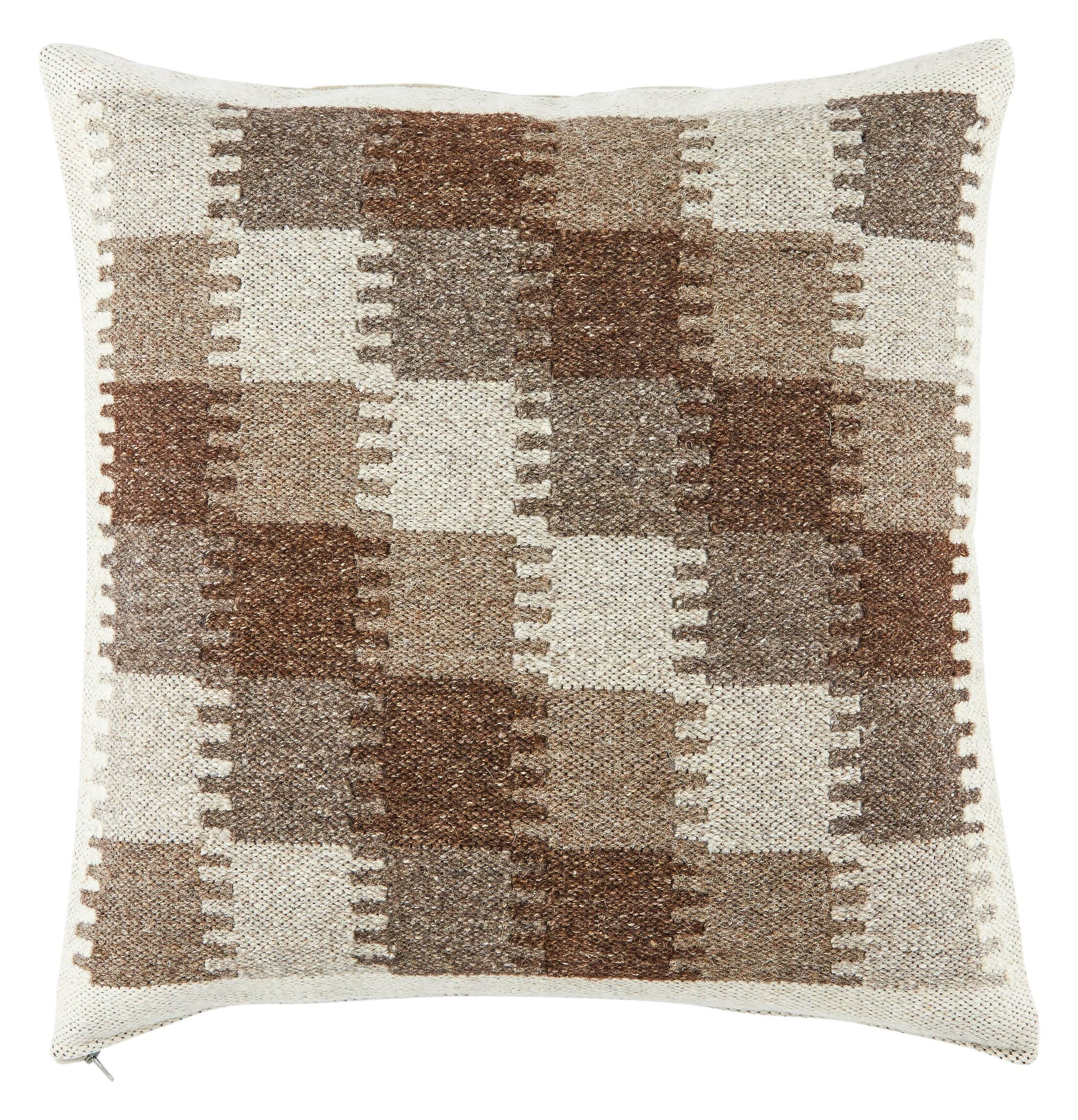 Burnley Throw Pillow Color: Gray/Taupe, Fill Material: Down/Feather