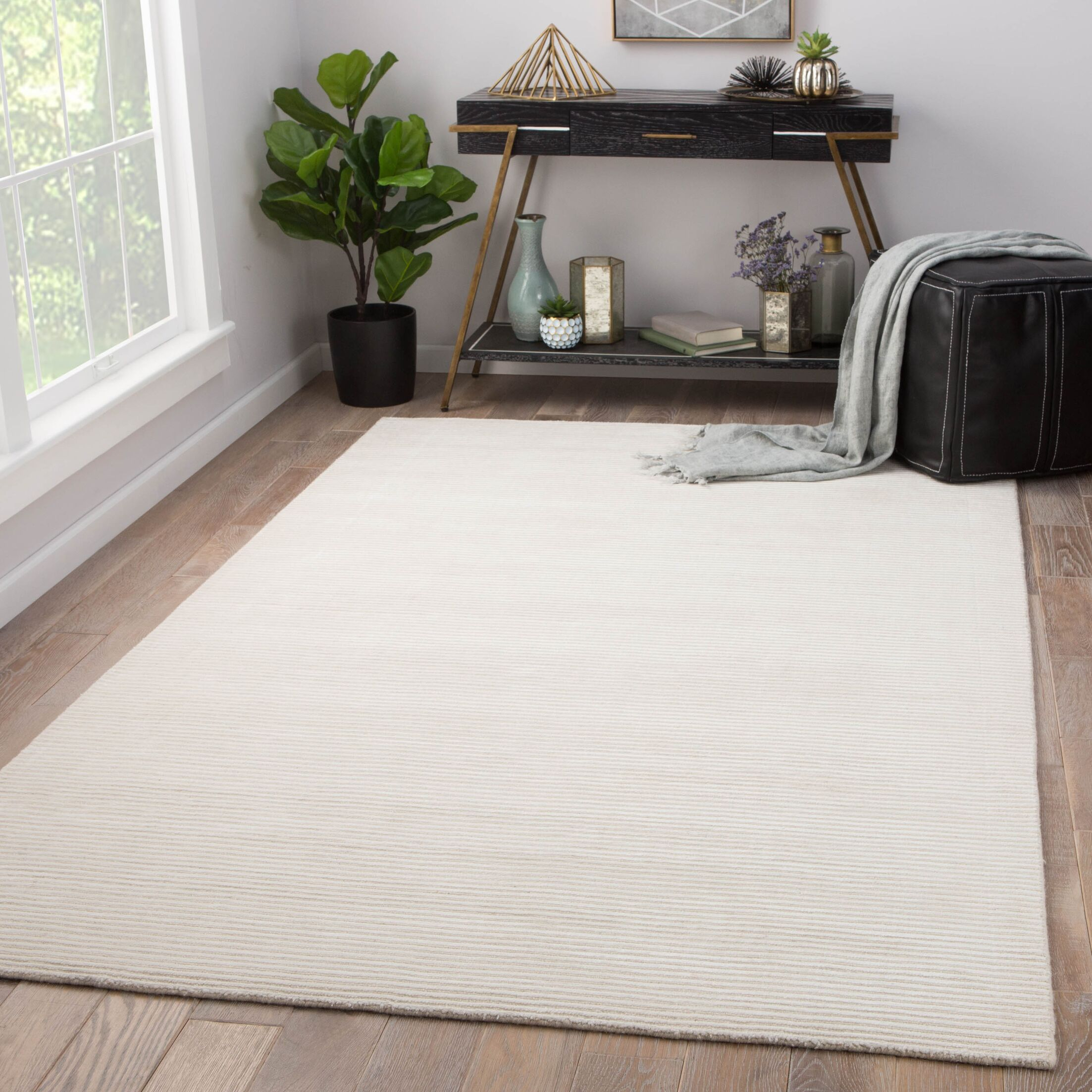 Phase Hand Woven White Area Rug Rug Size: Rectangle 8' x 10'