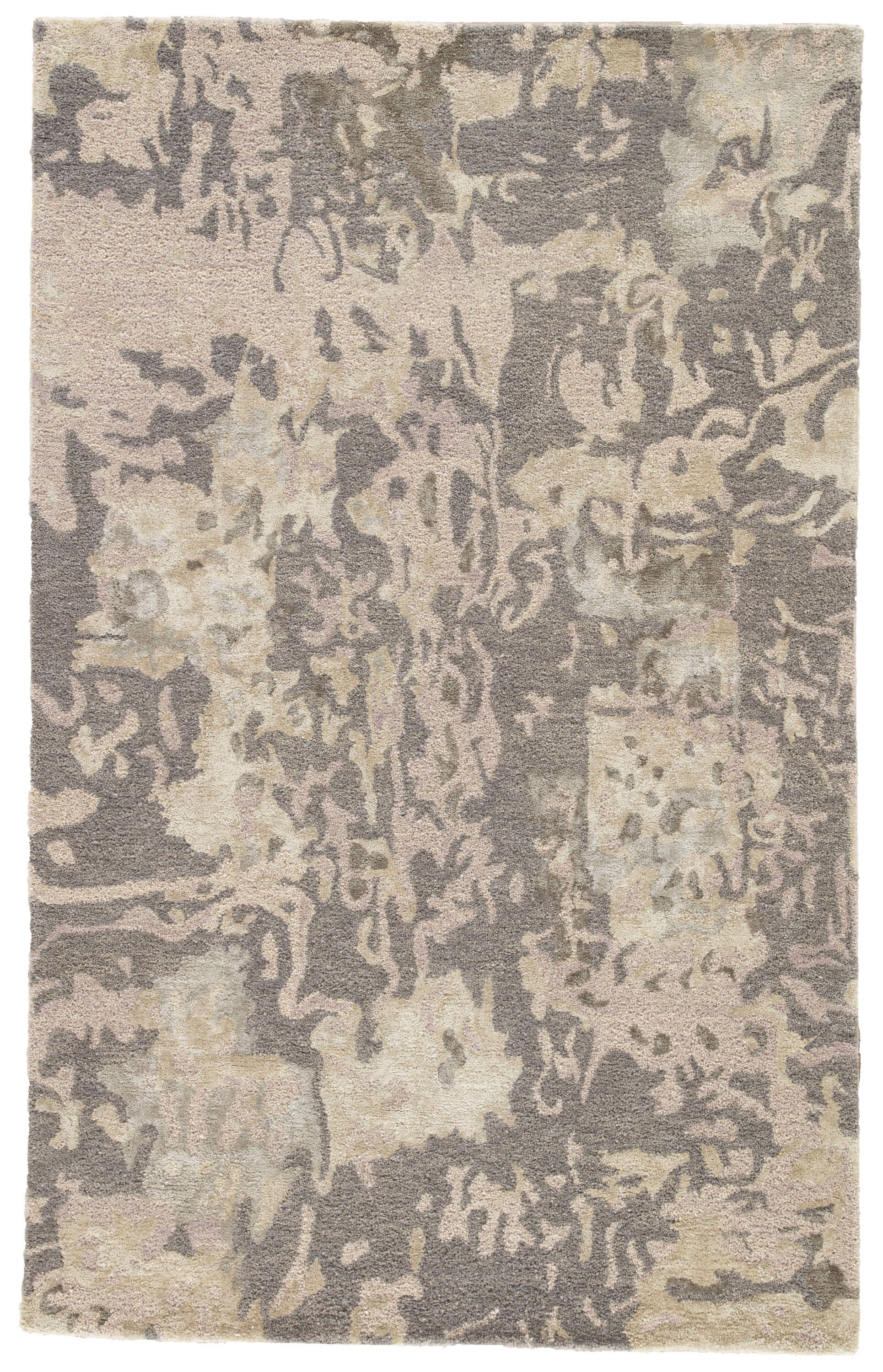 Morias Hand Tufted Gray/Taupe Area Rug Rug Size: Rectangle 9' x 12'