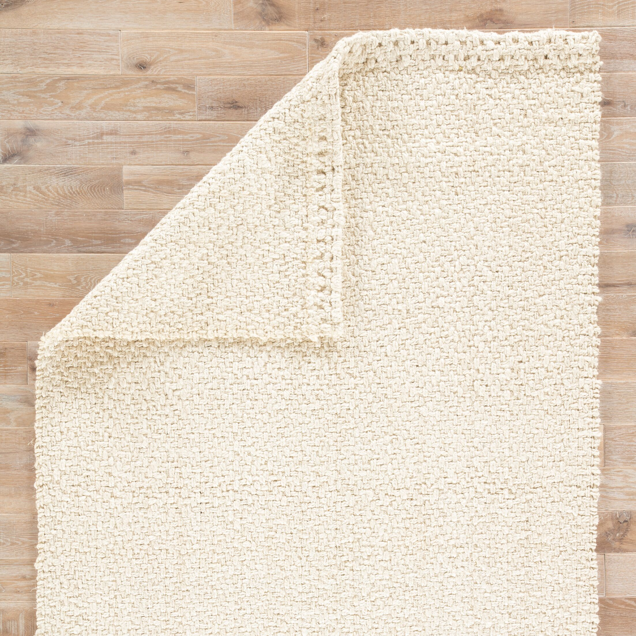Tate Hand Woven White Area Rug Rug Size: Rectangle 10' x 14'