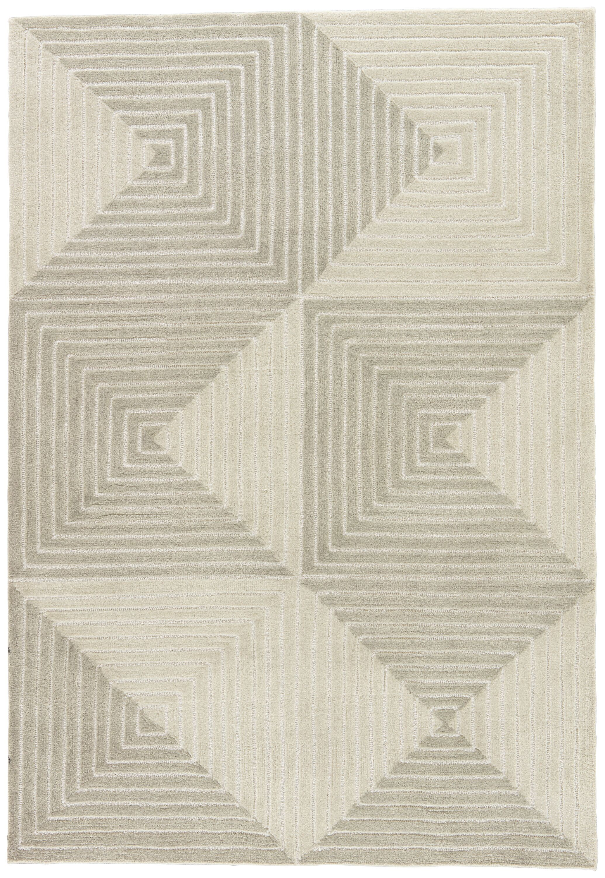 Zaydan Hand-Tufted Gray Area Rug Rug Size: Rectangle 5' x 7'6