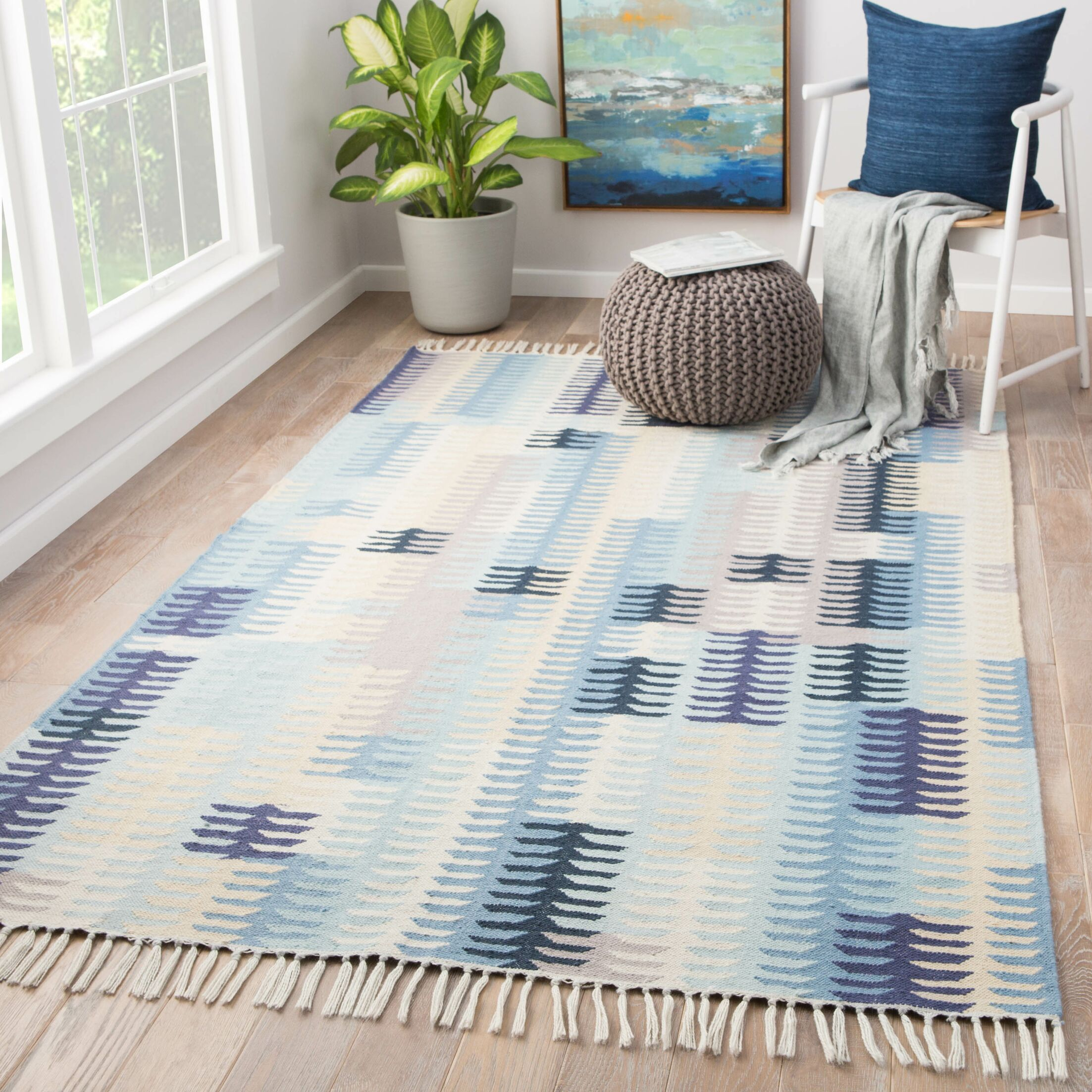 Afton Flat Woven Blue Indoor/Outdoor Area Rug Rug Size: Rectangle 8' x 10'