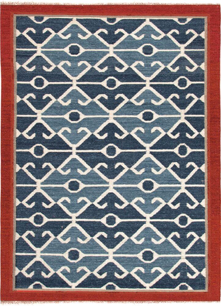 Rubina Blue/Red Area Rug Rug Size: Rectangle 4' x 6'