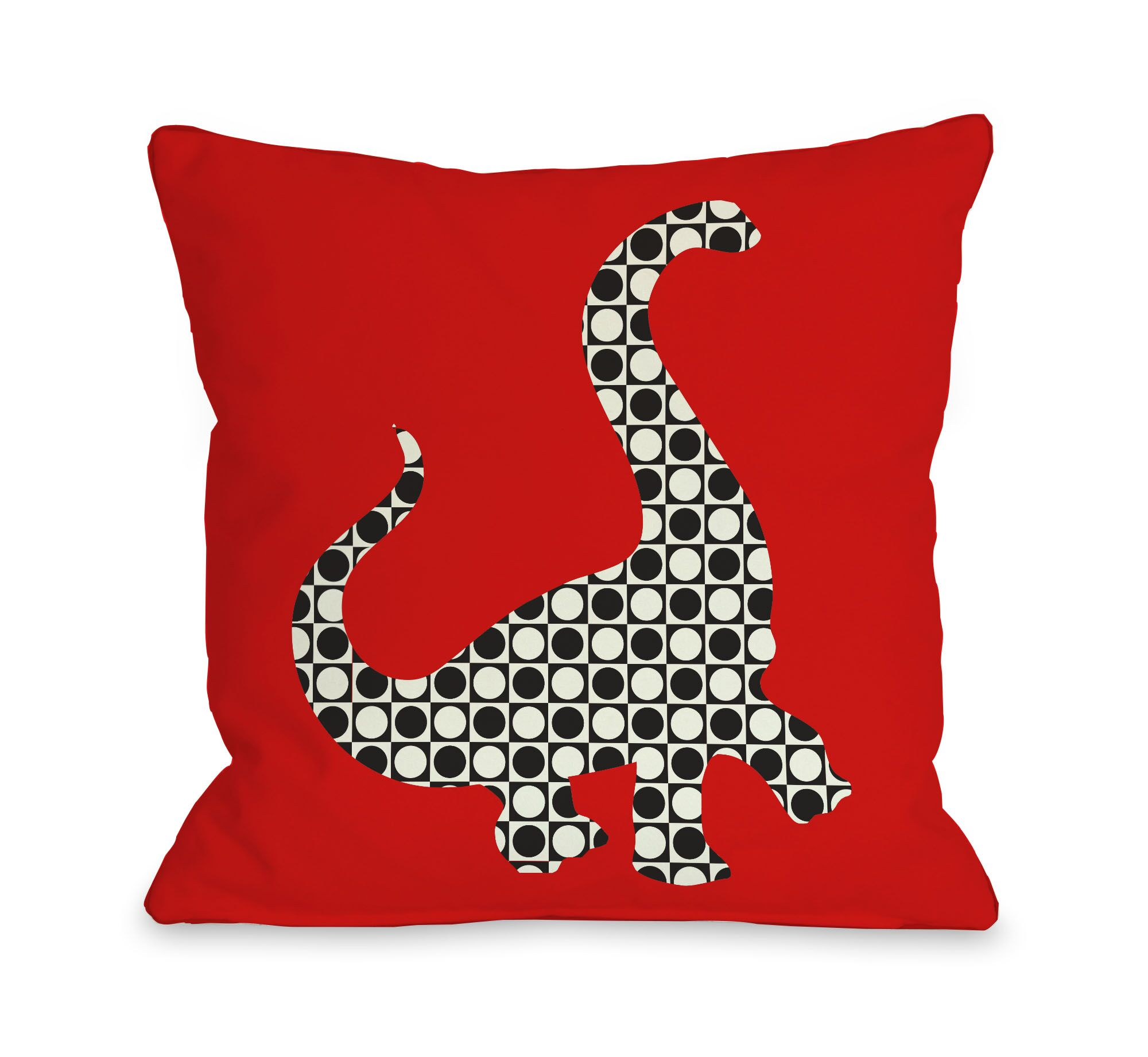 Camasaurus Throw Pillow Size: 20