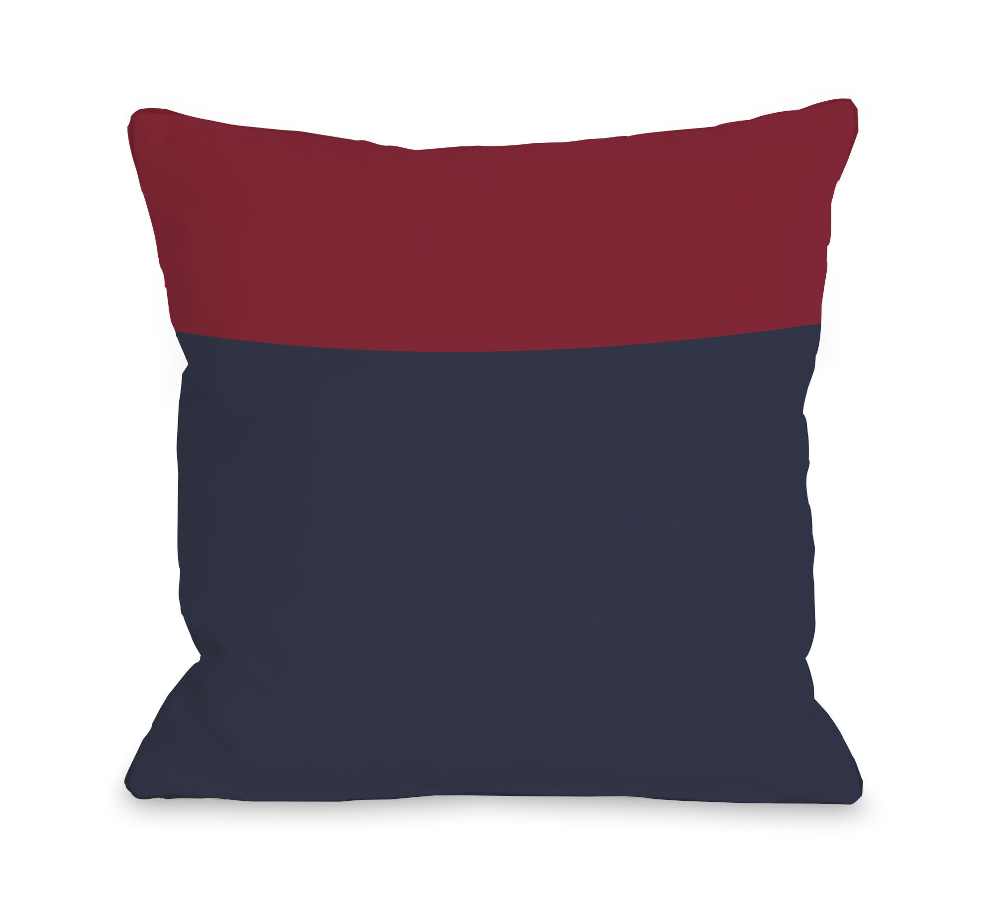 Two Tone Throw Pillow Size: 16