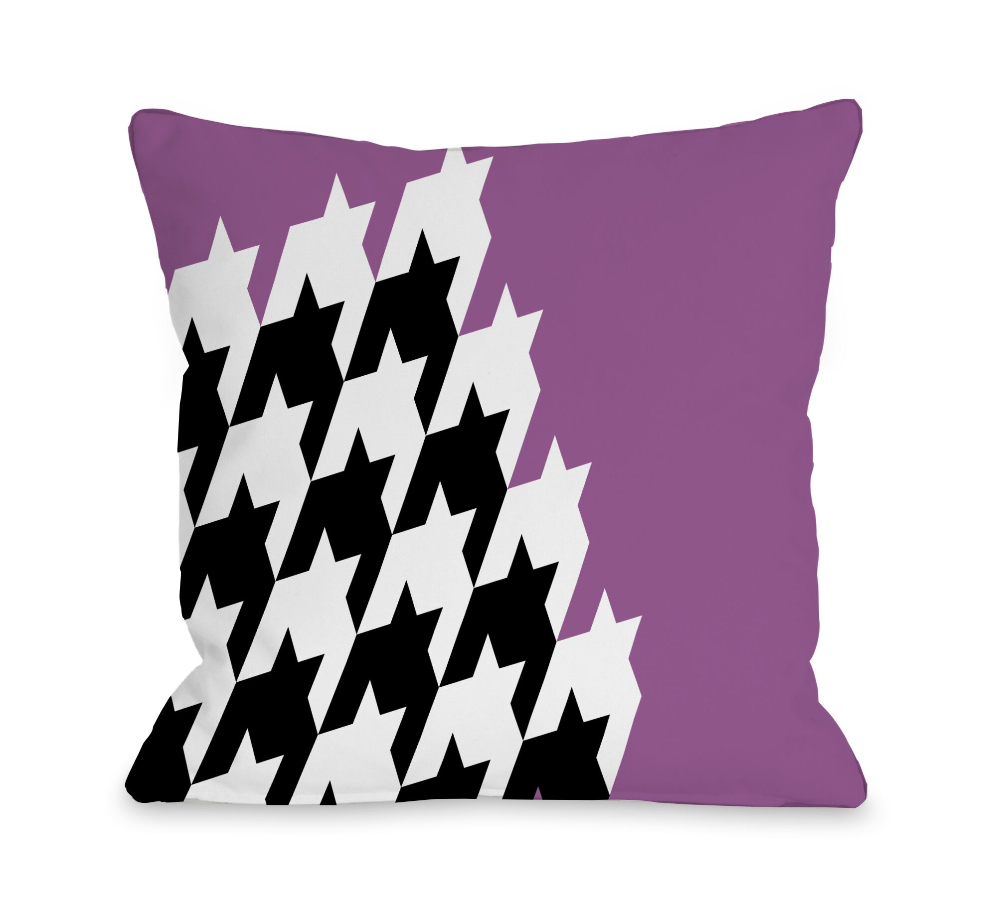 Harry Half Houndstooth Throw Pillow Size: 18