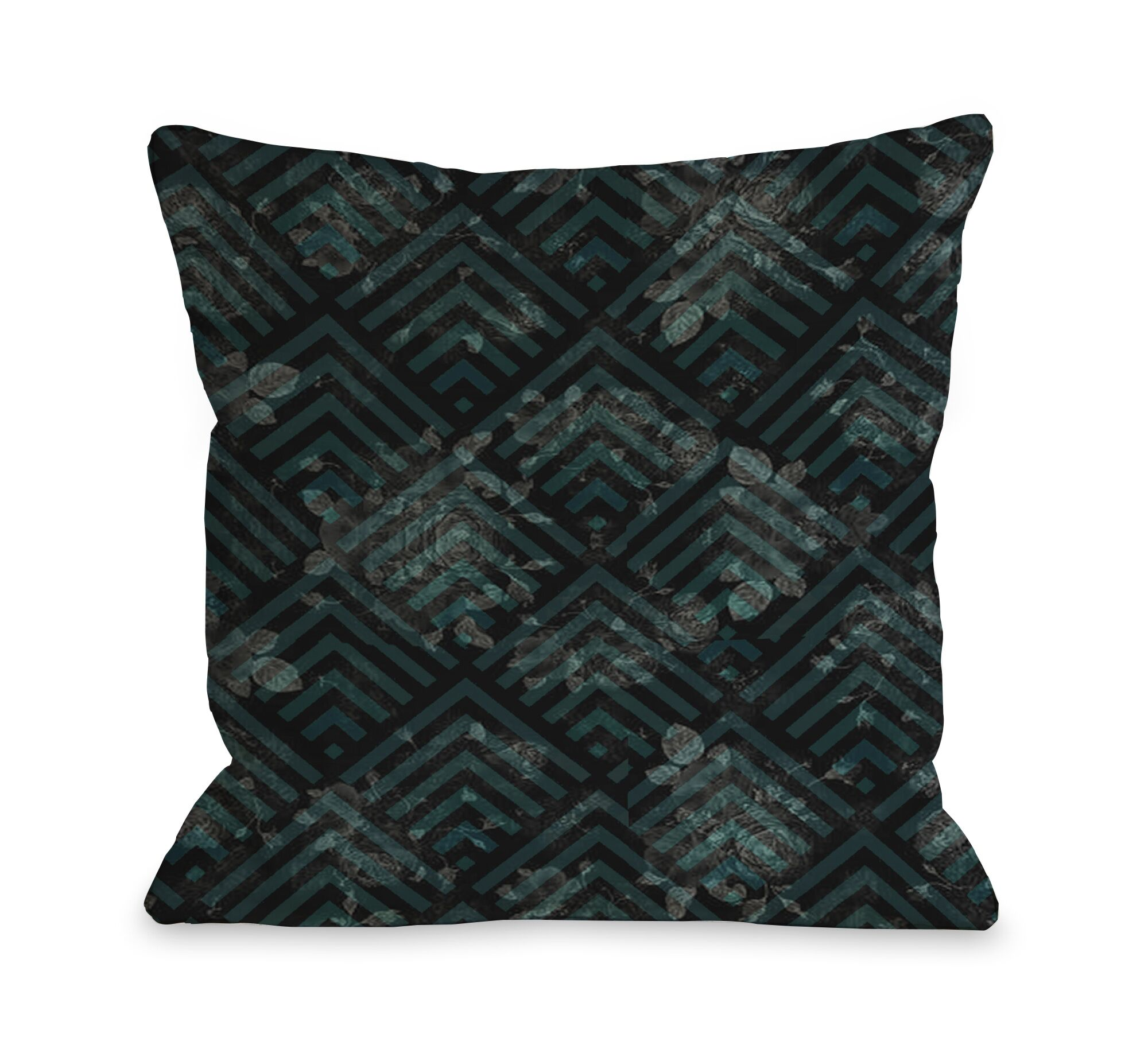 Maya Scale Floral Throw Pillow