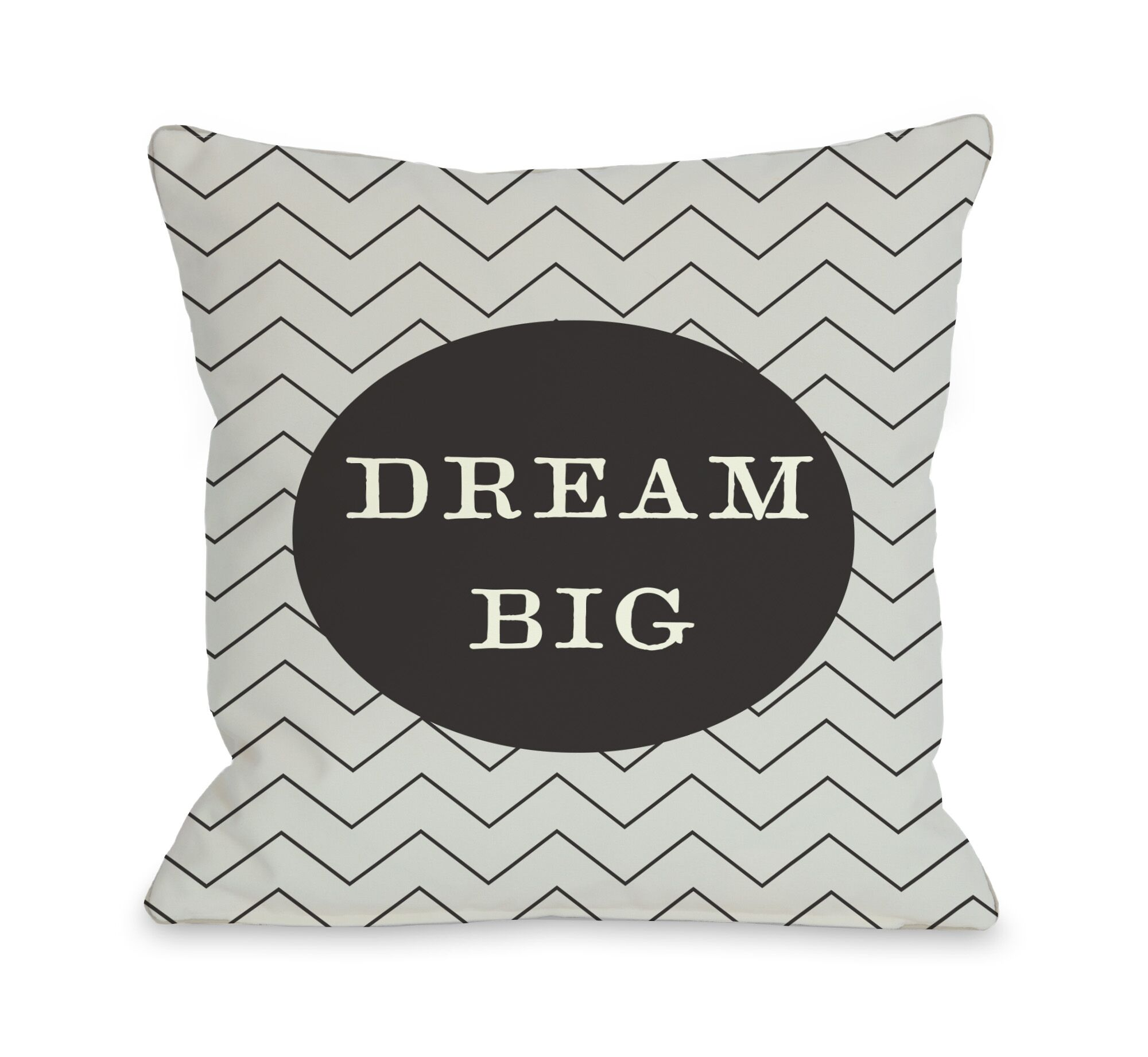 Dream Skinny Chevron Throw Pillow Size: 26