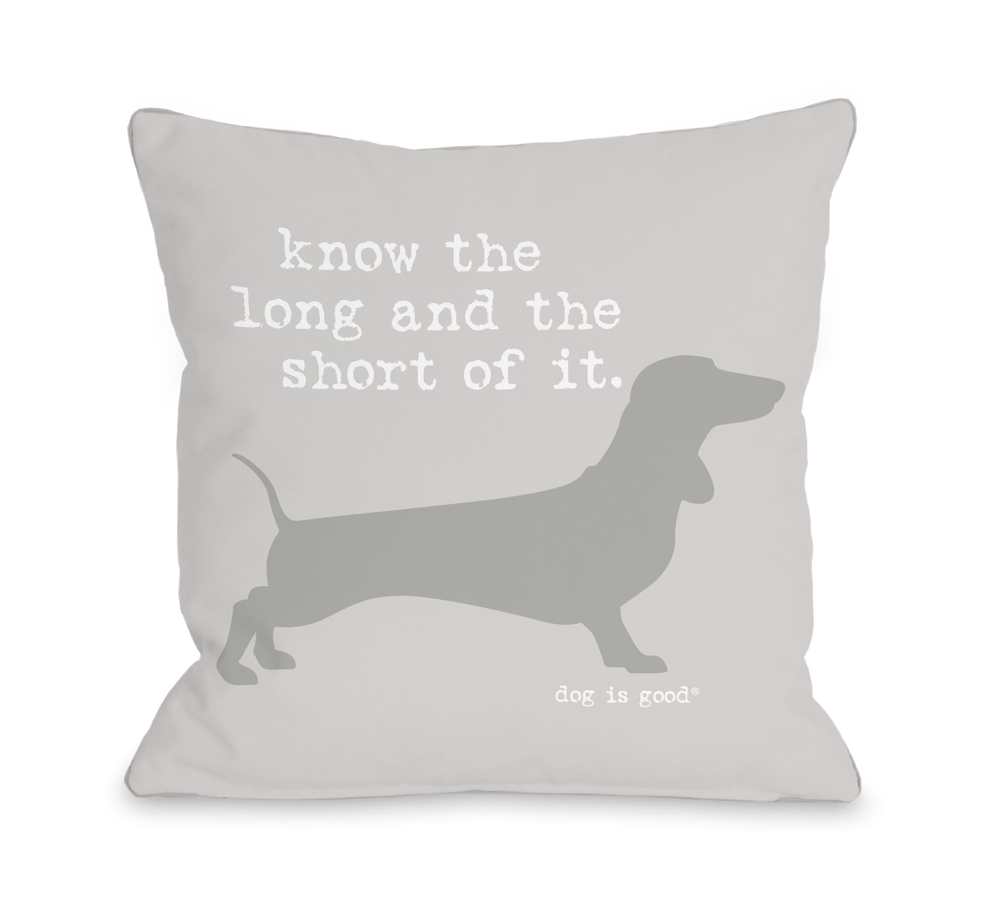 Long and Shore Throw Pillow Size: 18