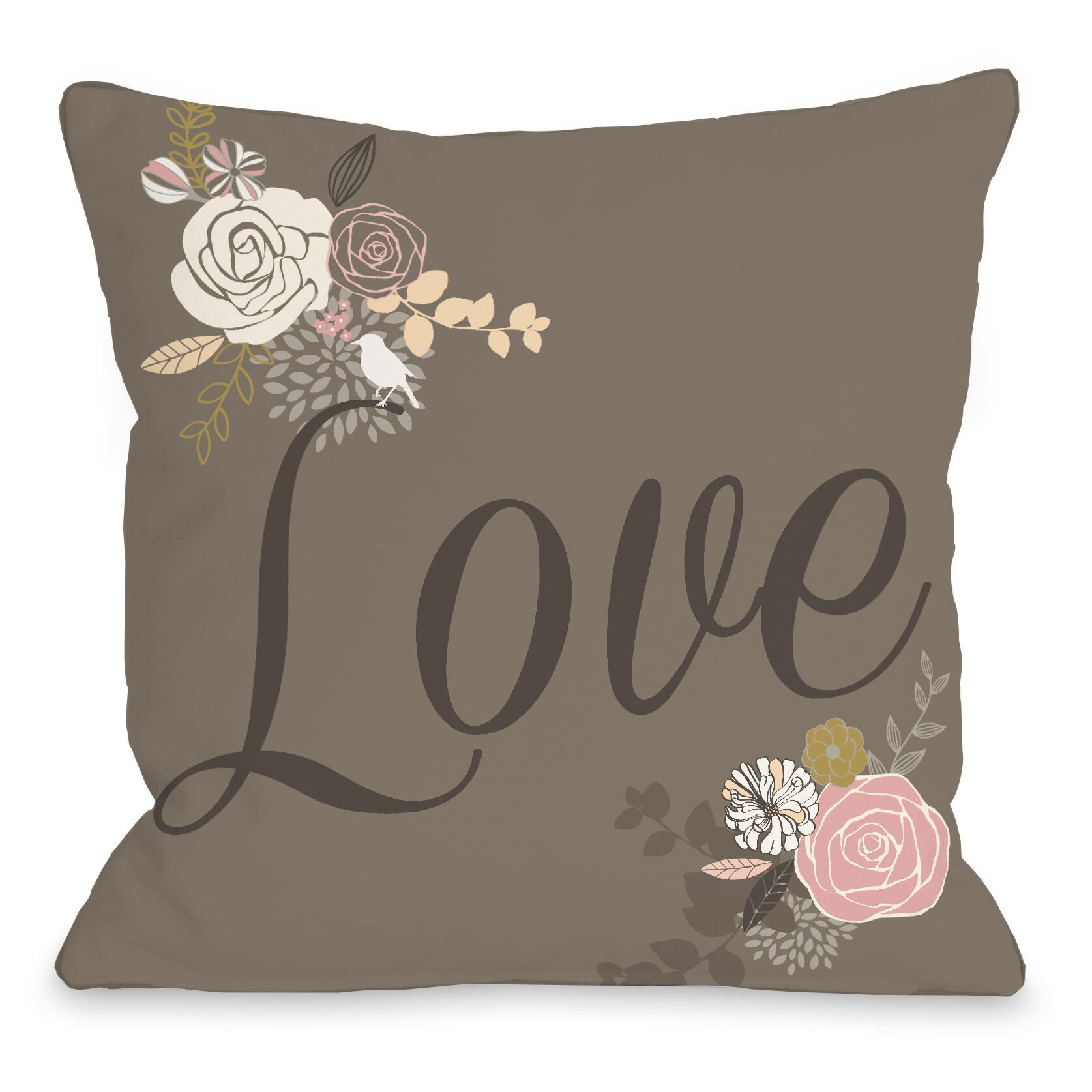 Love Not Reversed Throw Pillow Size: 18