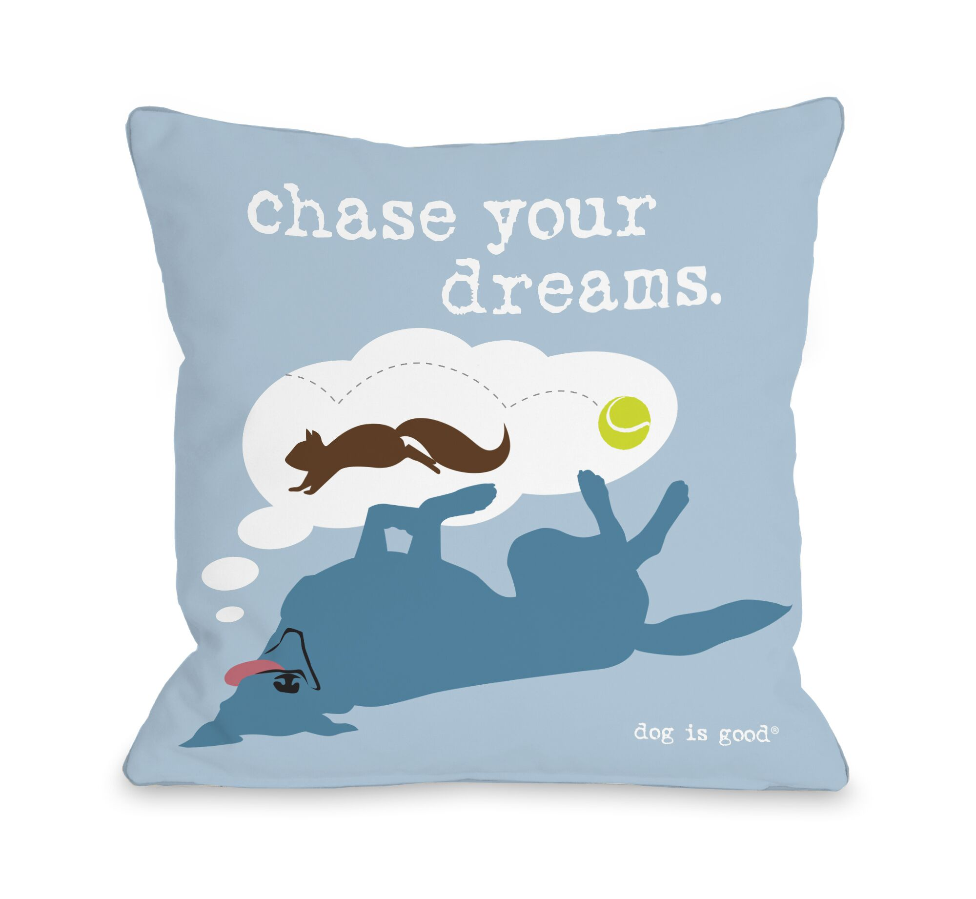 Chase Dreams Throw Pillow Size: 18