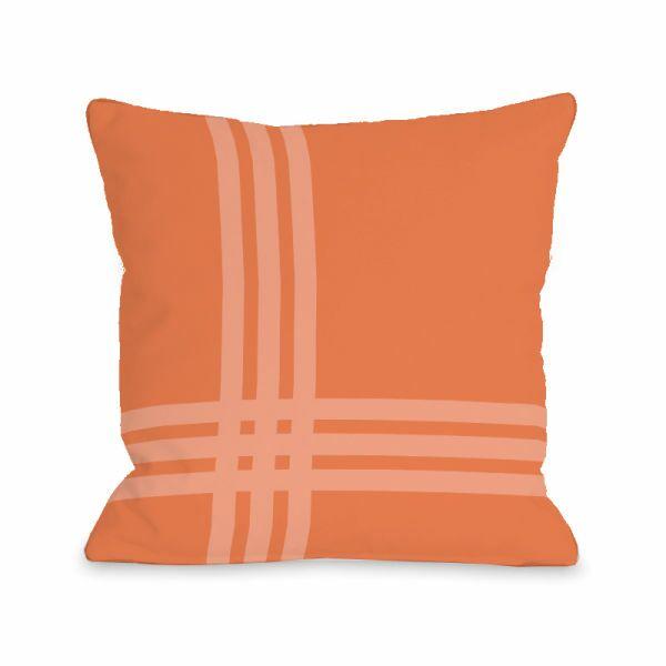 Plaid Throw Pillow Size: 16