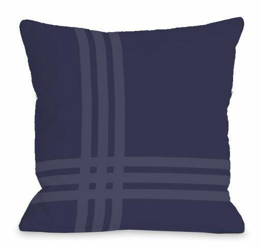 Pop Outdoor Throw Pillow Color: Midnight