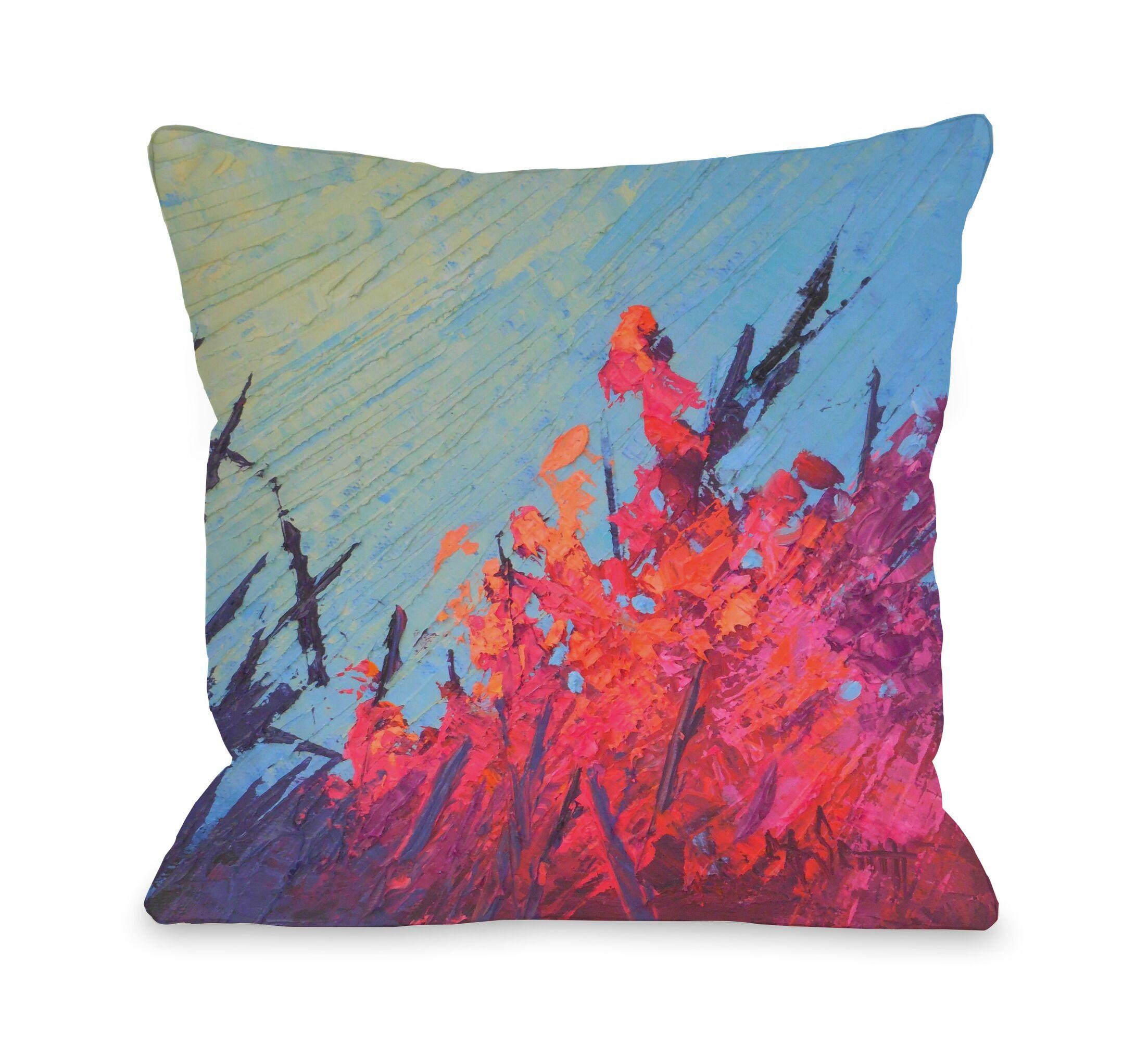 Billips Reef Garden Outdoor Throw Pillow Size: 18