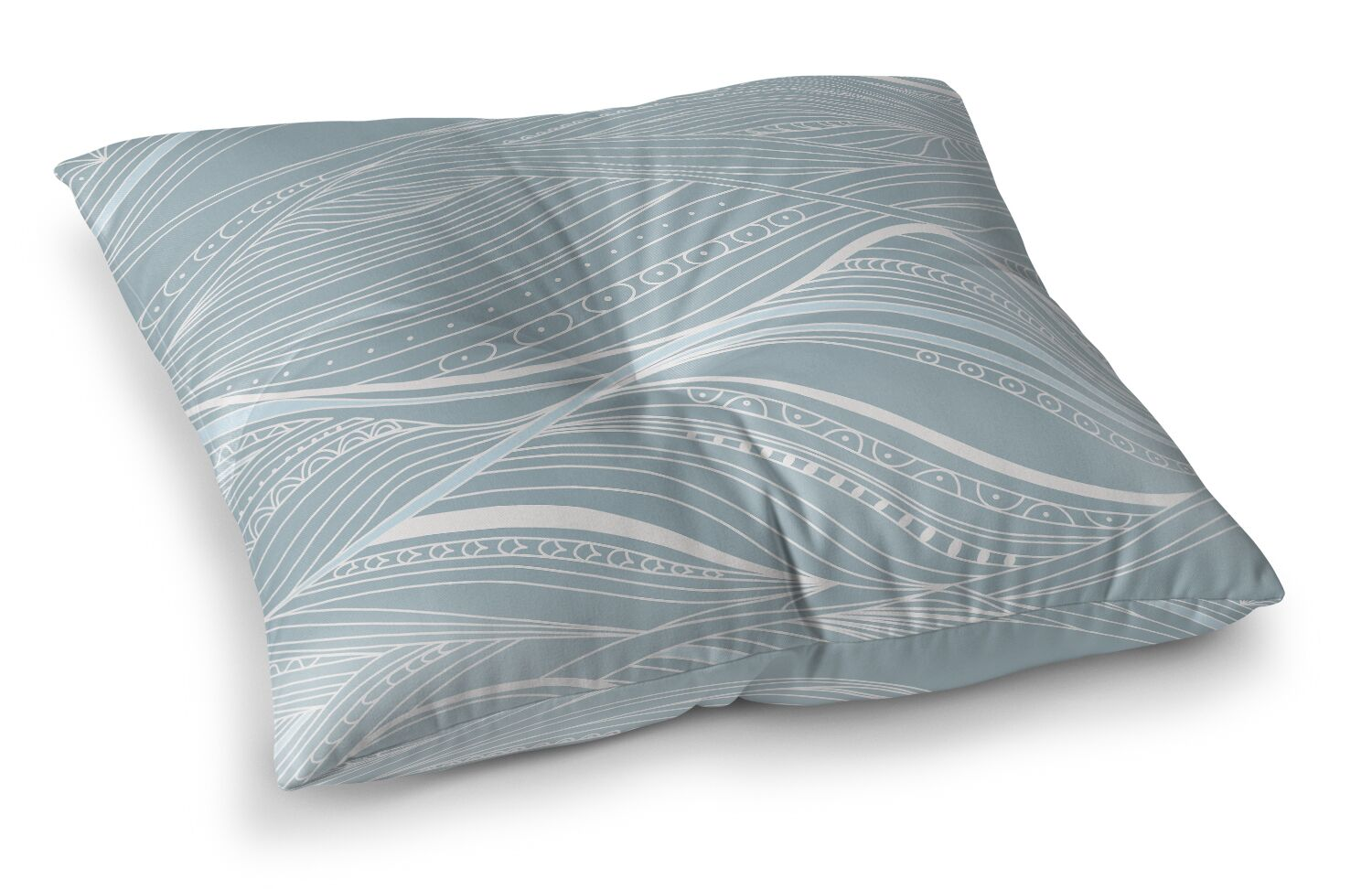 Courtdale Abstract Ocean Outdoor Floor Pillow Size: 23