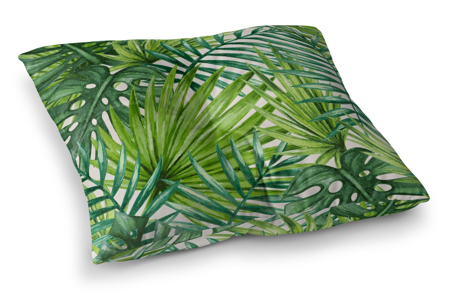 Jada Palm Leaves Outdoor Floor Pillow Size: 26