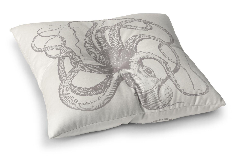 Calais Natural Octopus Outdoor Floor Pillow Size: 26