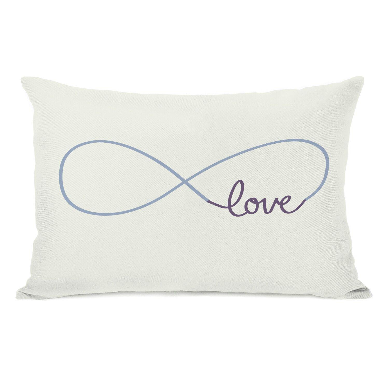Infinite Love Lumbar Pillow Color: Ivory Grape