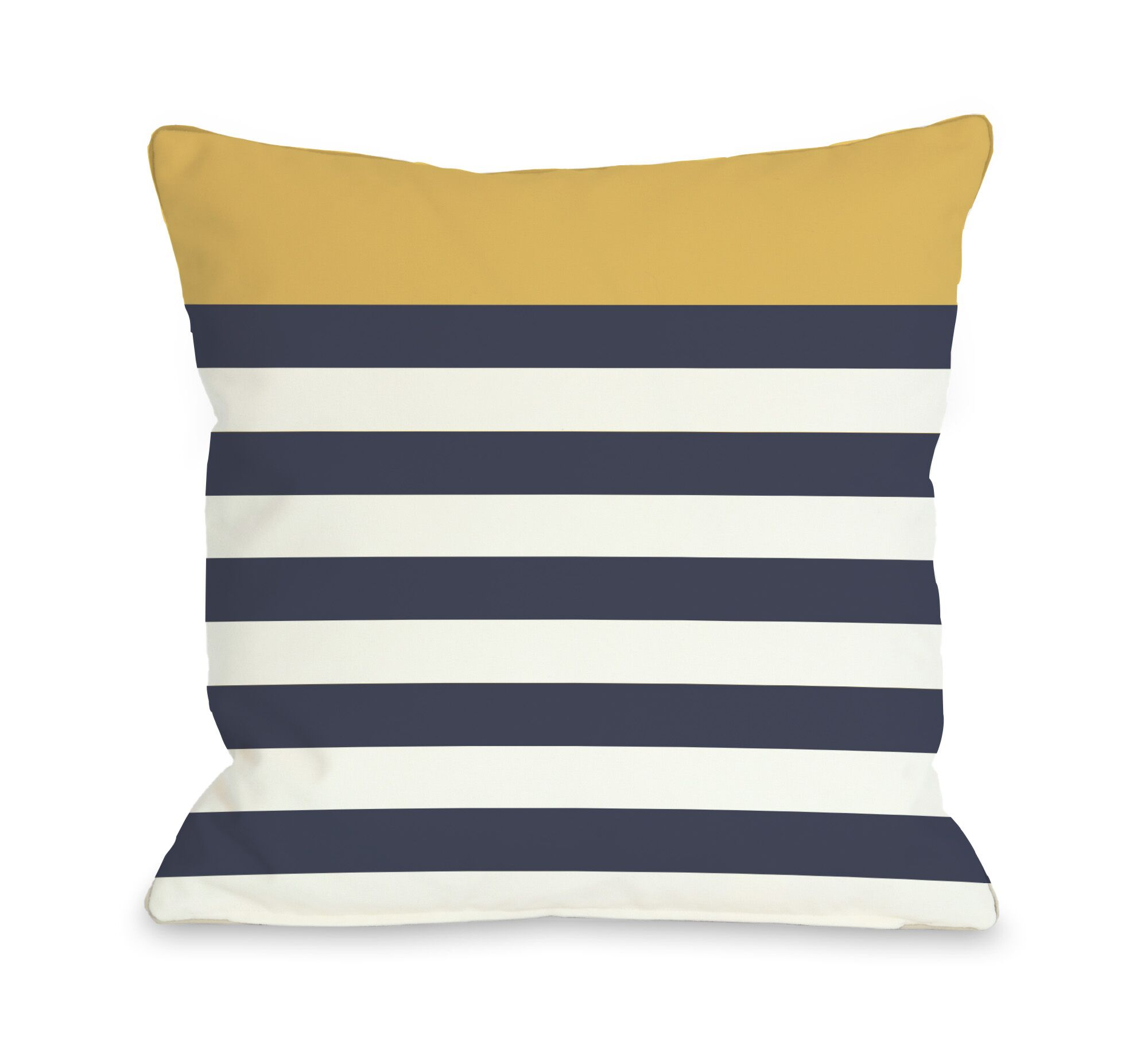 Nautical Stripes  Pillow Color: Mimosa, Size: 26