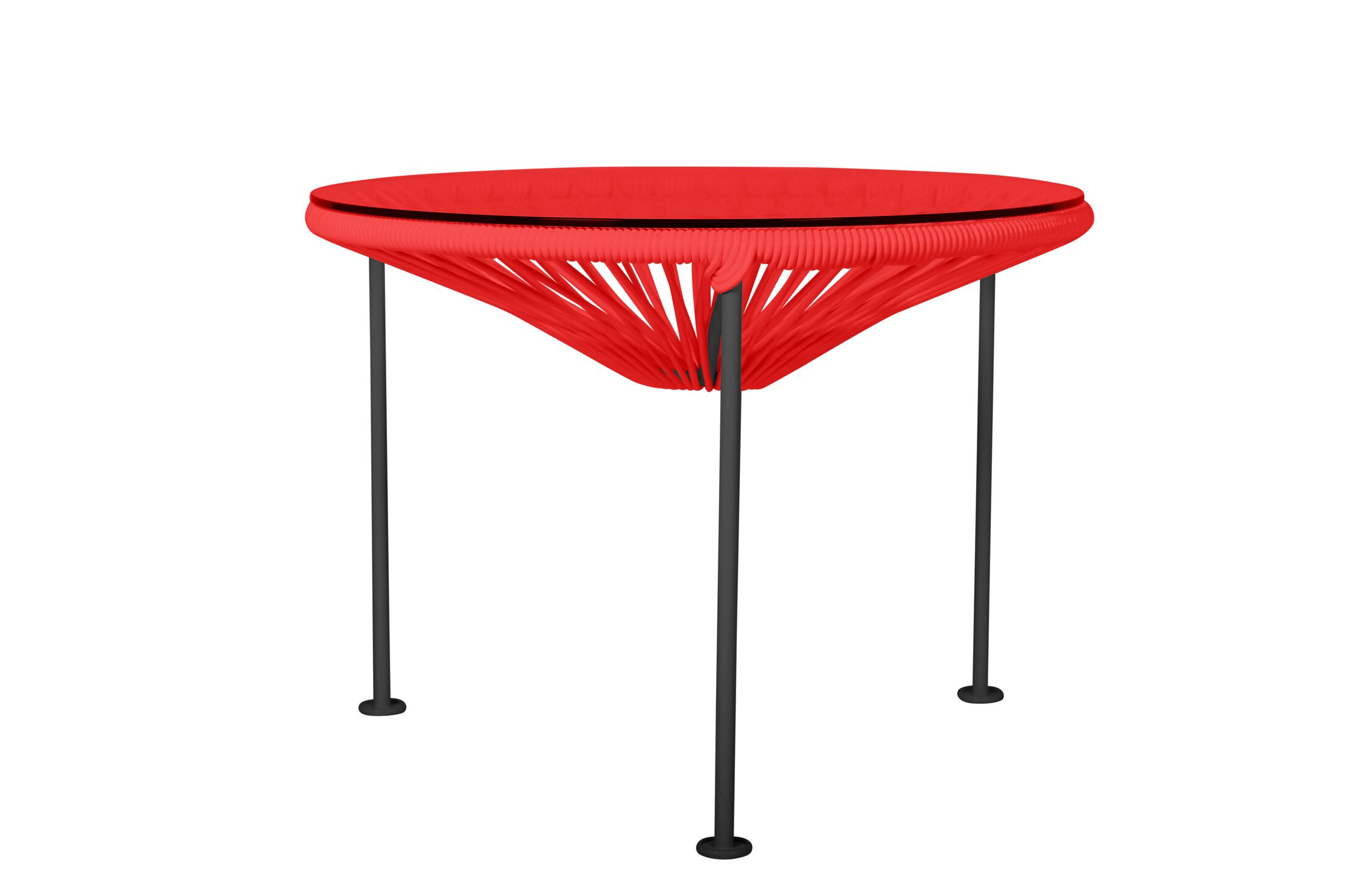 Zica End Table Base Color: Black, Top Color: Red
