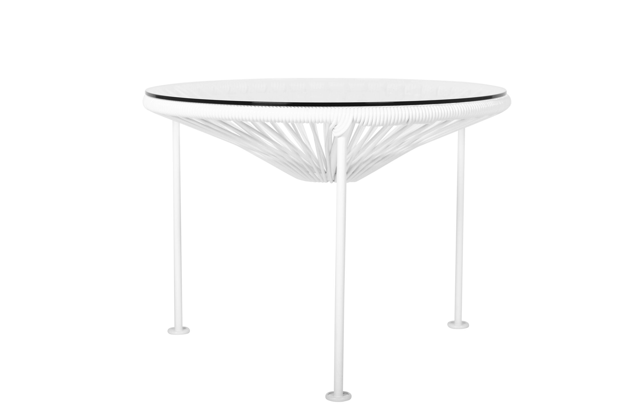 Zica End Table Base Color: White, Top Color: White