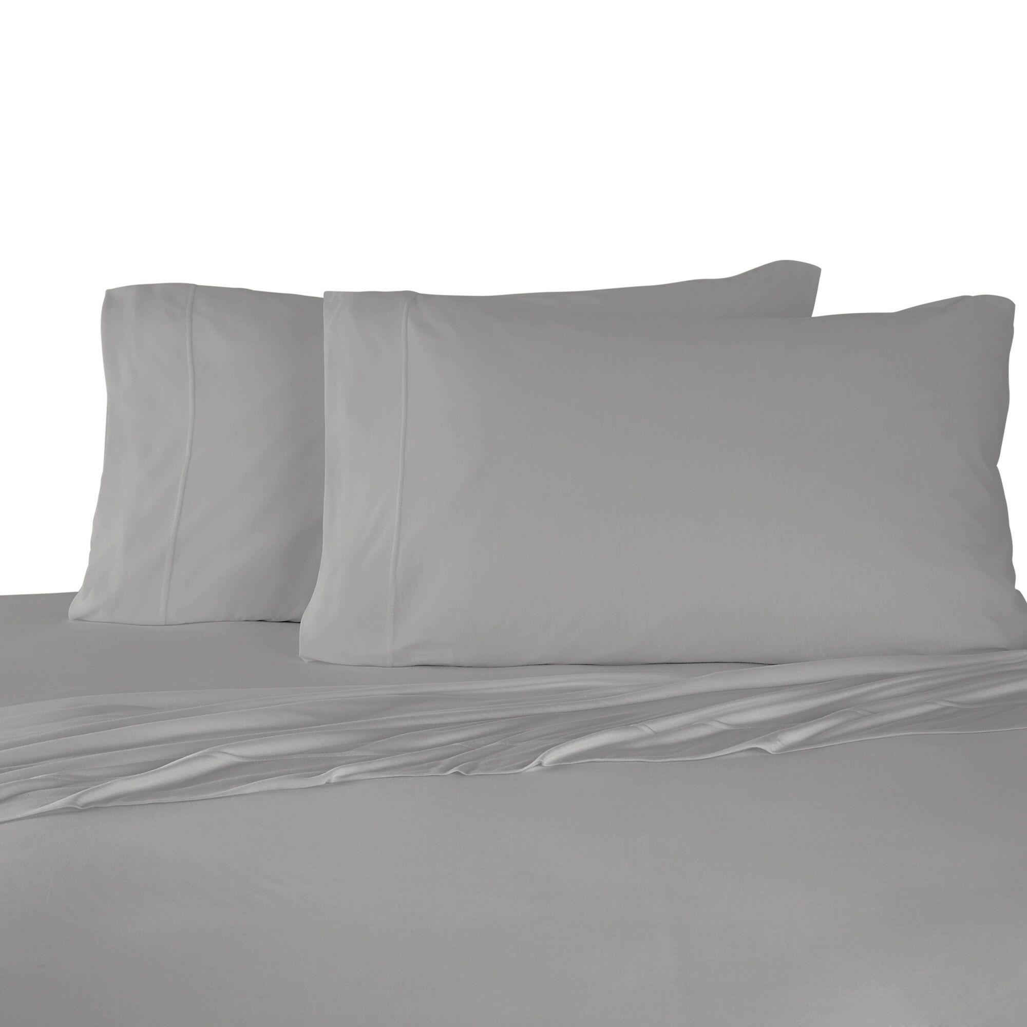 Bare Necessities Jersey Modal Cotton Sheet Set Color: Gray, Size: California king