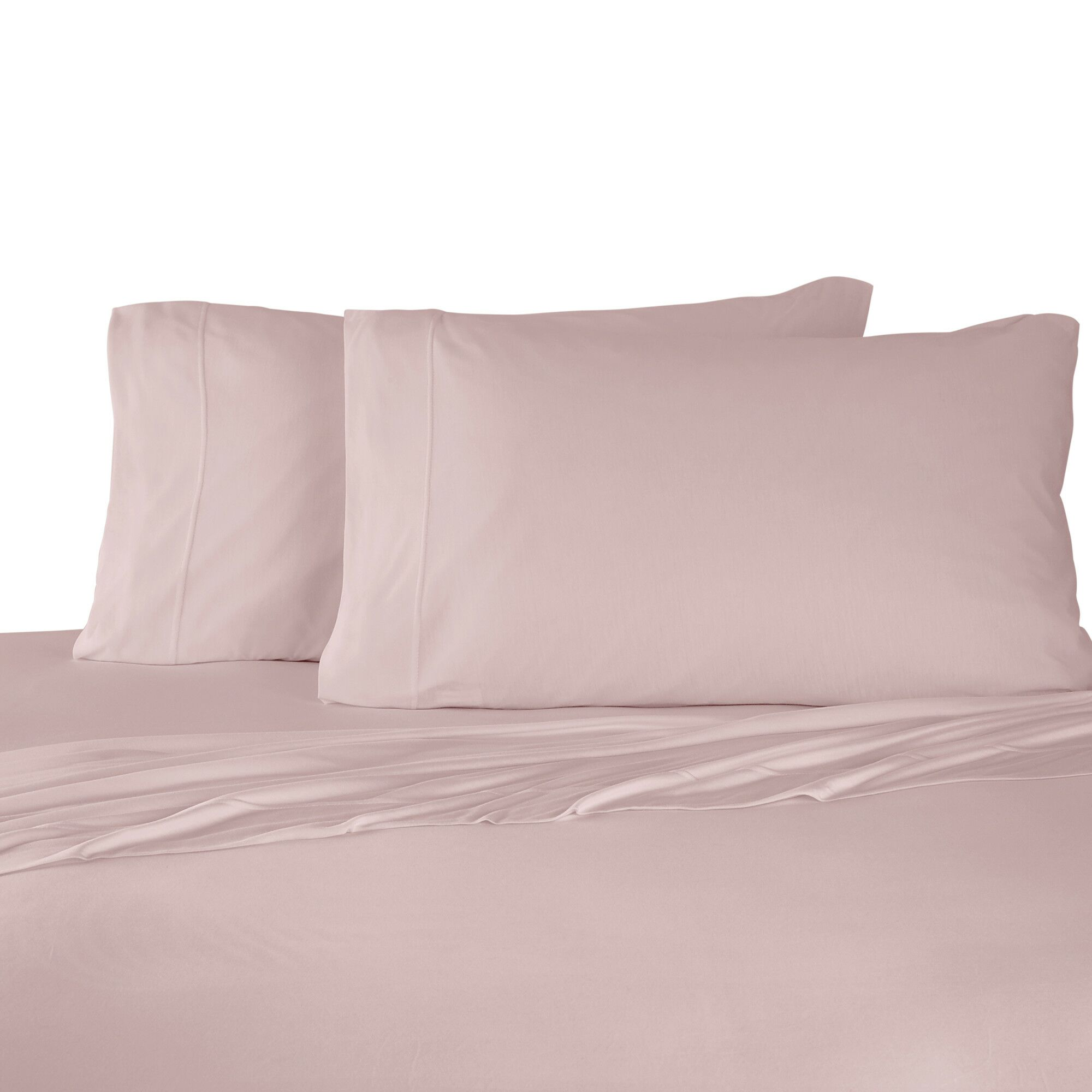 Bare Necessities Jersey Modal Cotton Sheet Set Color: Peach, Size: California king