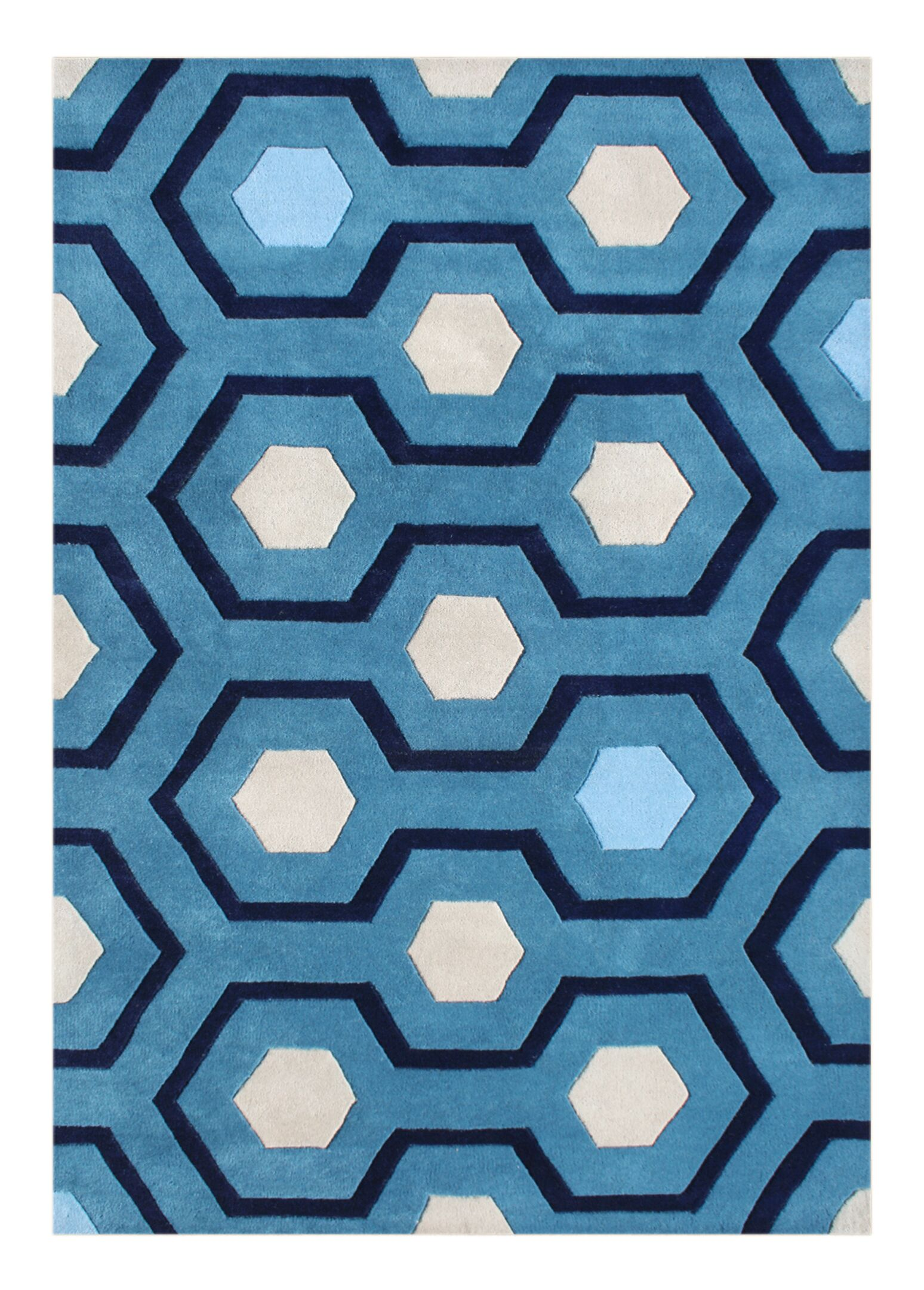Alliyah Handmade Blue Area Rug