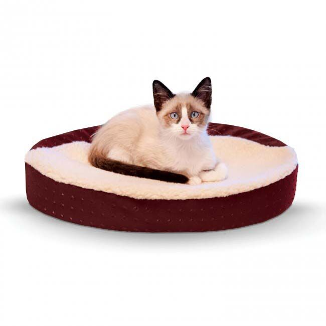 Ultra Memory Oval Cuddle Nest Color: Red