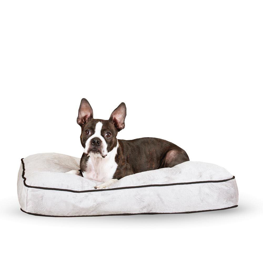 Dog Tufted Pillow Top Bed Color: Gray, Size: Medium