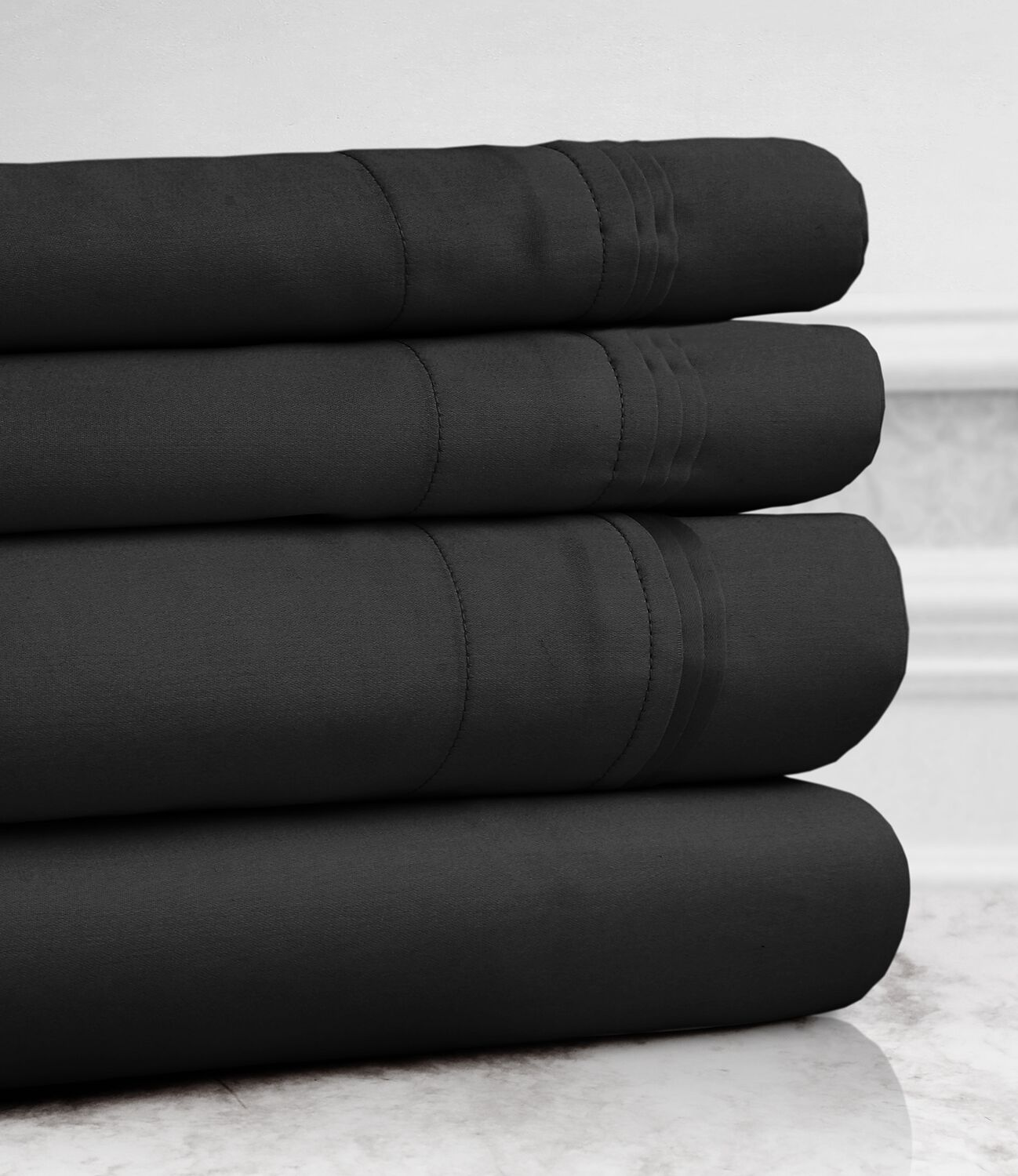 Valentino 4 Piece 1200 Thread Count Egyptian Quality Cotton Sheet Set Color: Gold, Size: Queen