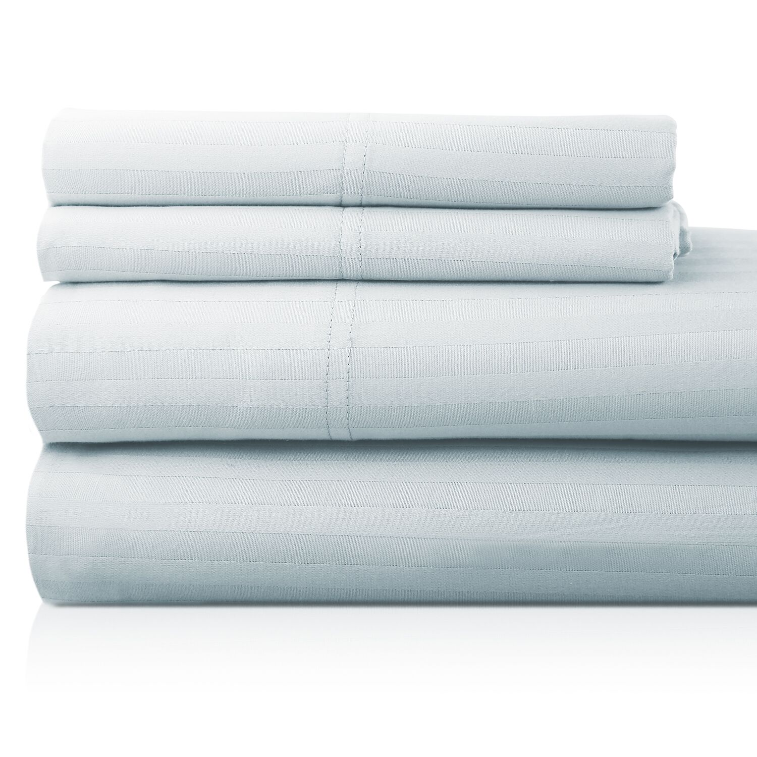 Valentino 4 Piece 1200 Thread Count Egyptian Quality Cotton Sheet Set Color: Sky, Size: Full