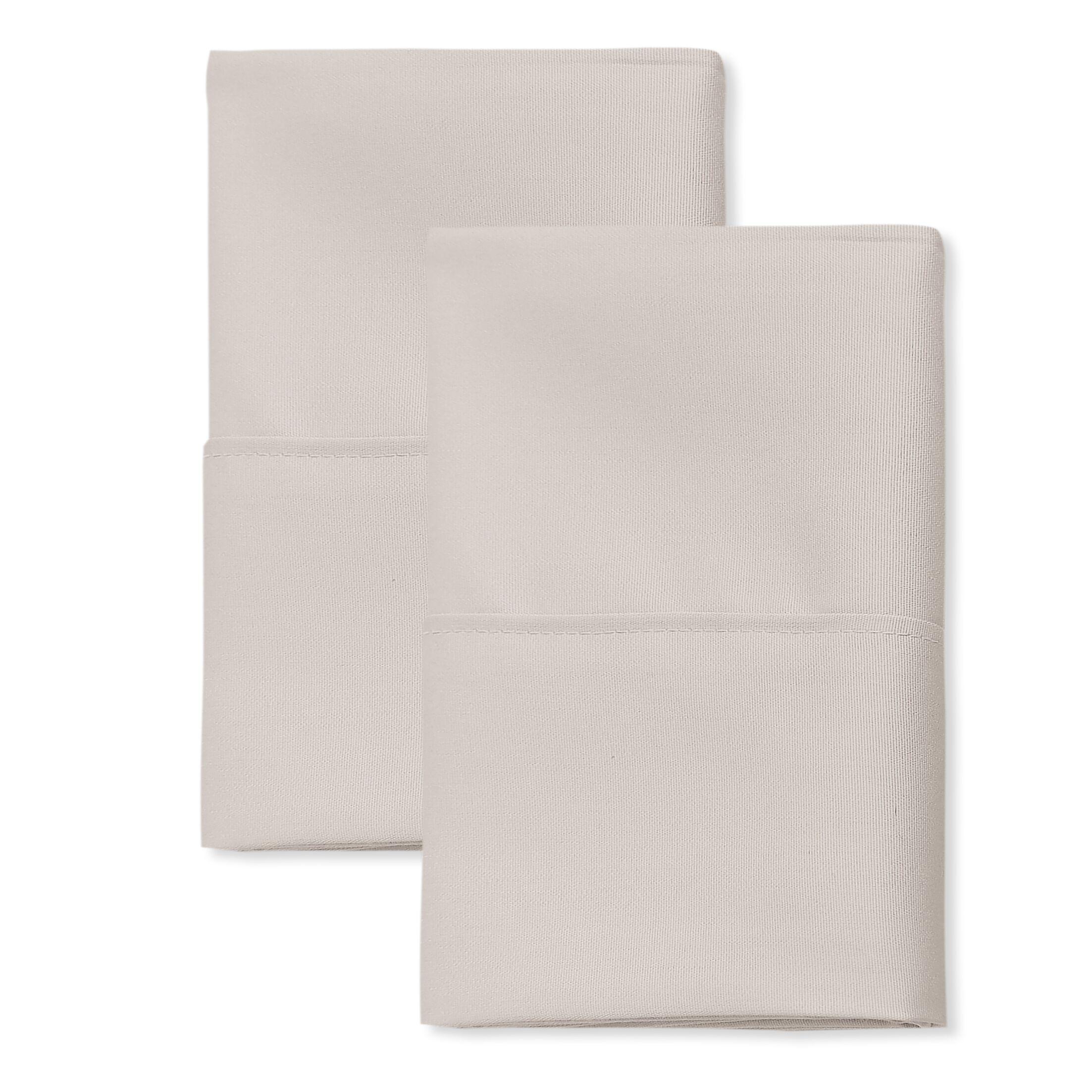 San'T Agnello Hotel Pillowcase Color: Ivory, Size: King