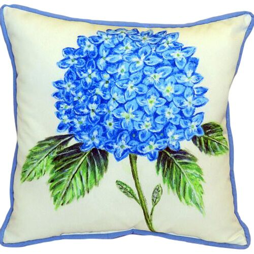 Ansley Hydrangea Indoor/Outdoor Euro Pillow Size: Large