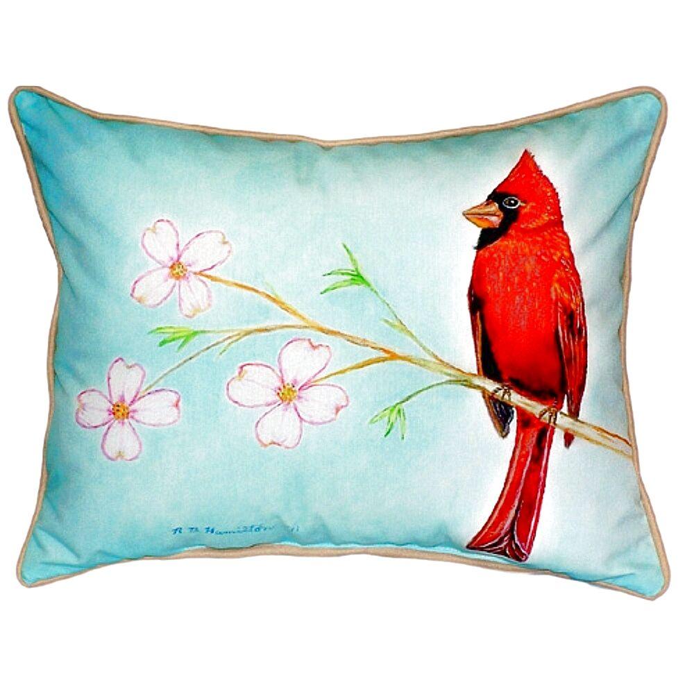 Cardinal Indoor/Outdoor Lumbar Pillow