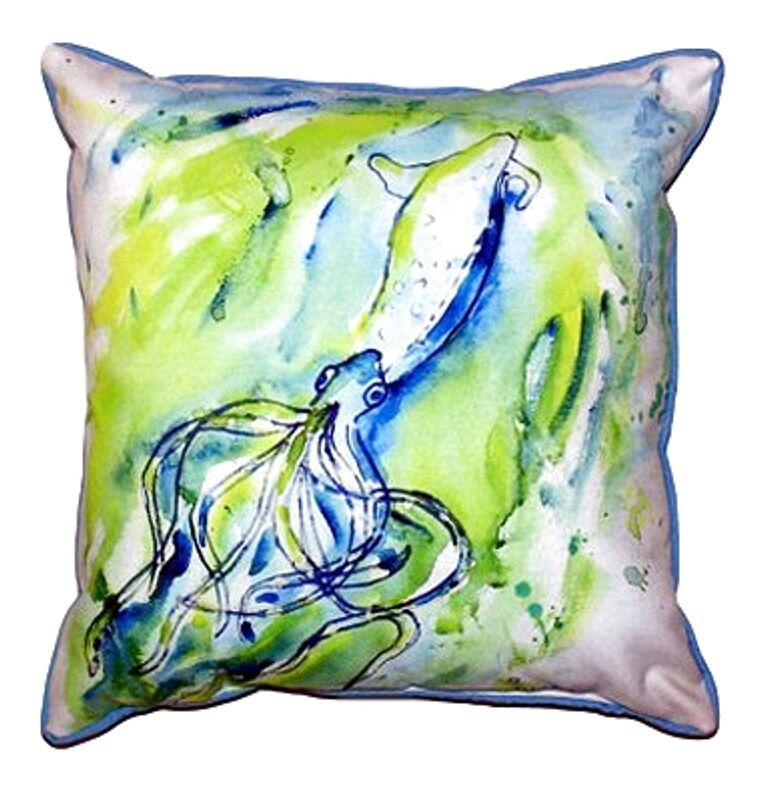 Calamari Outdoor Throw Pillow Size: Small