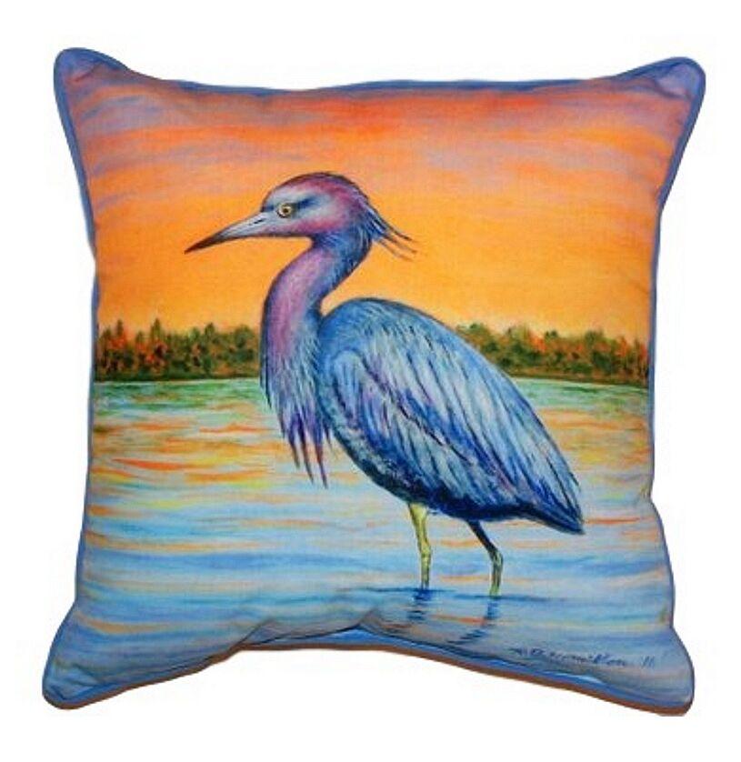 Heron & Sunset Indoor/Outdoor Throw Pillow Size: Large