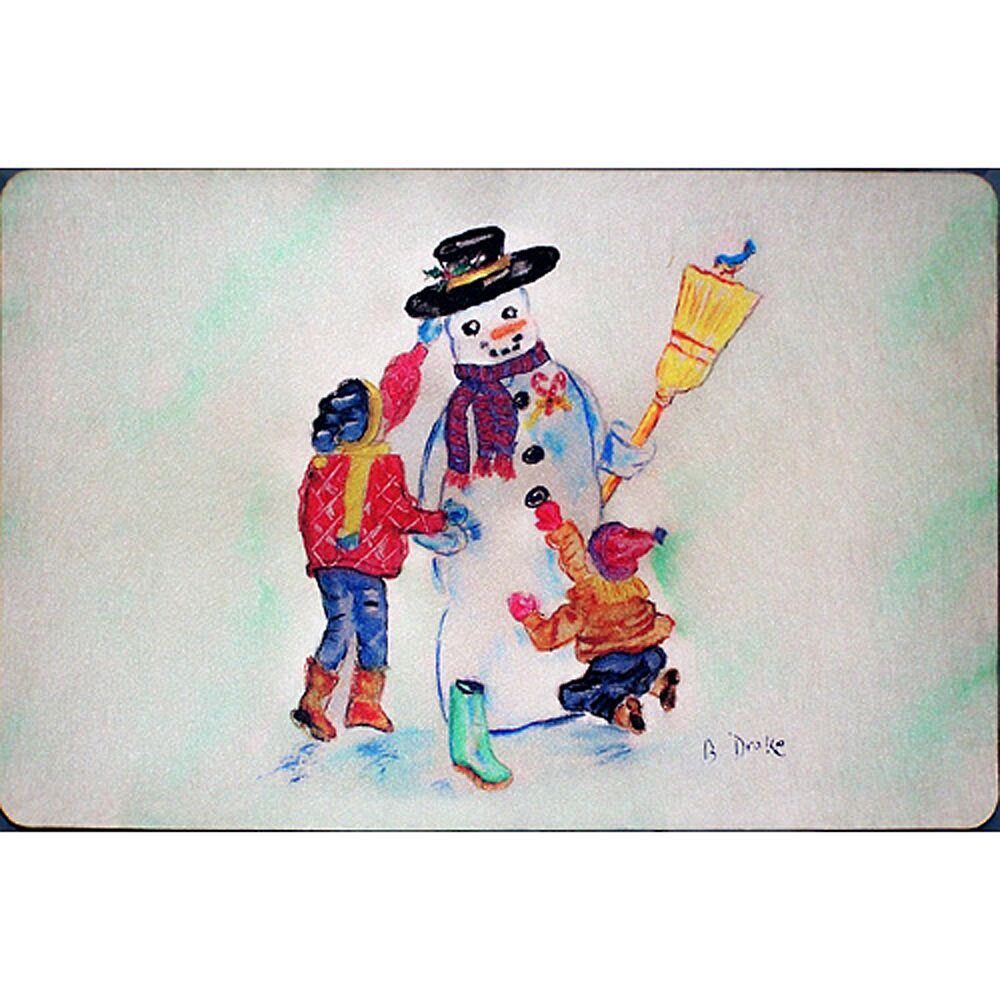 Ann Snowman Doormat Mat Size: Rectangle 2'5