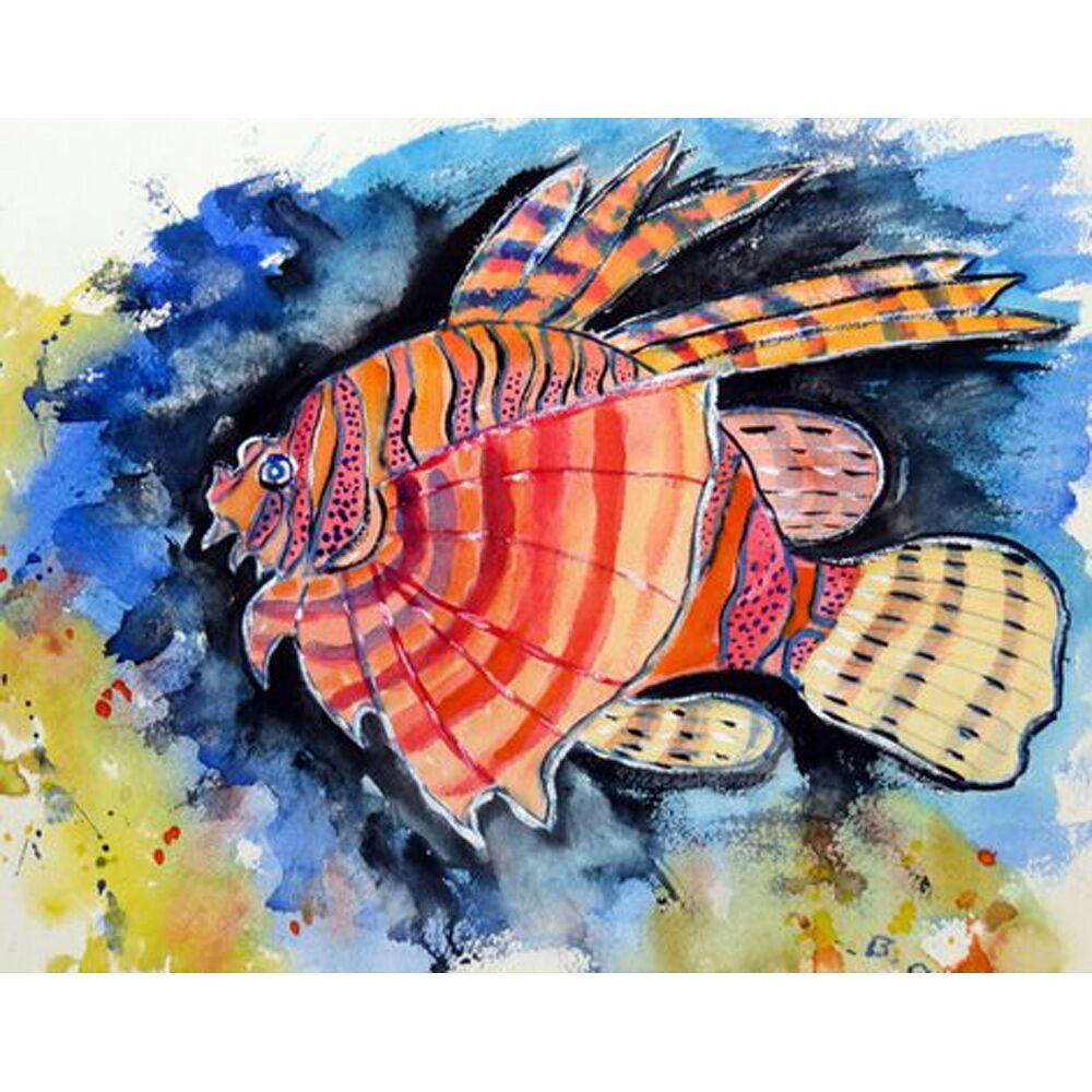 Lion Fish Doormat Mat Size: Rectangle 2'6