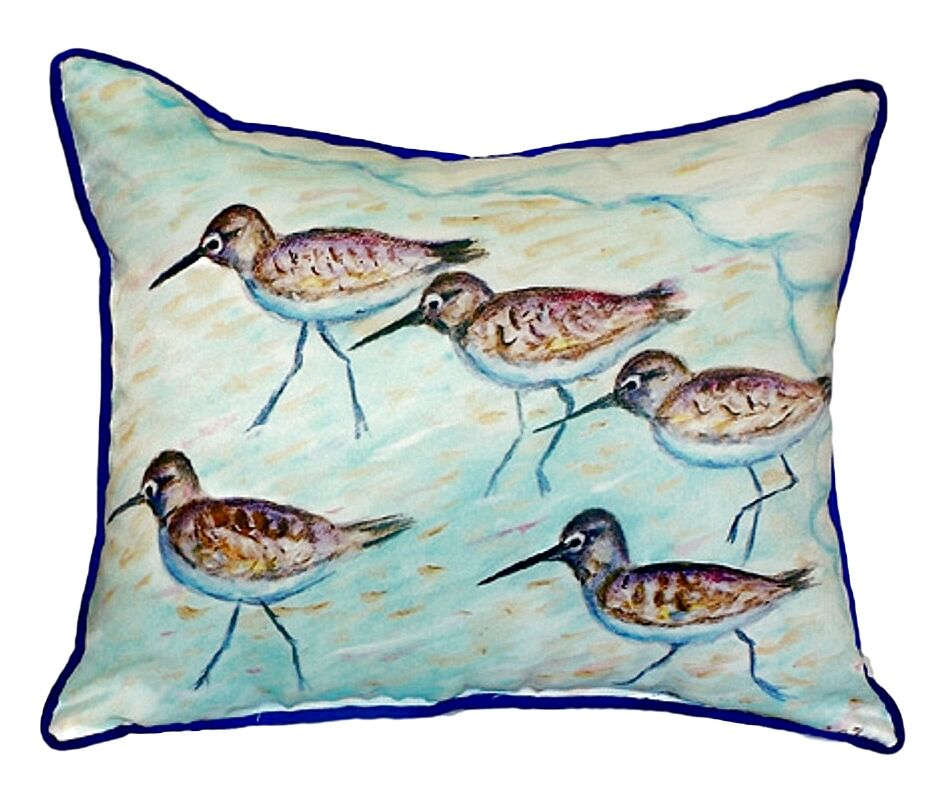 Isabeau Sandpipers Indoor/Outdoor Throw Pillow Size: Small