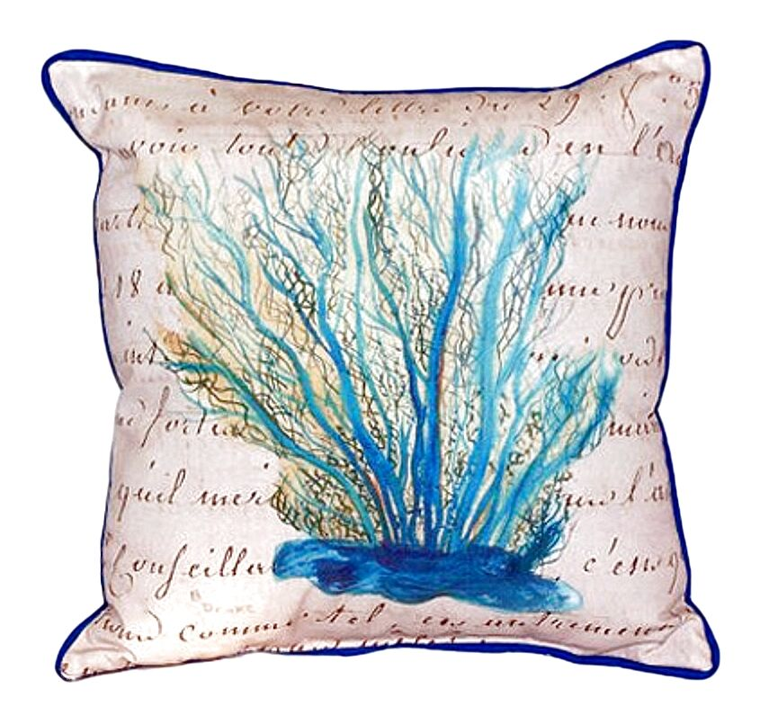 Coral Indoor/Outdoor Throw Pillow Size: Large