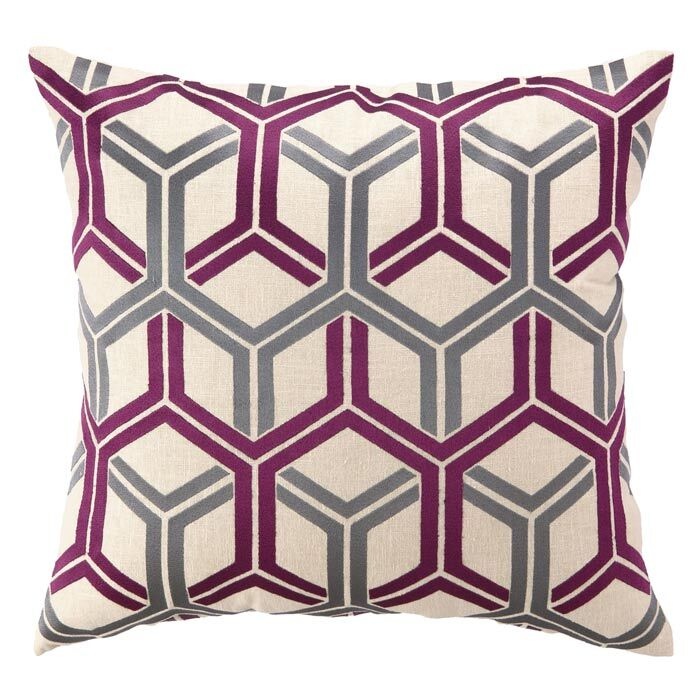 D.L. Rhein Shannon Linen Throw Pillow Color: Fuchsia
