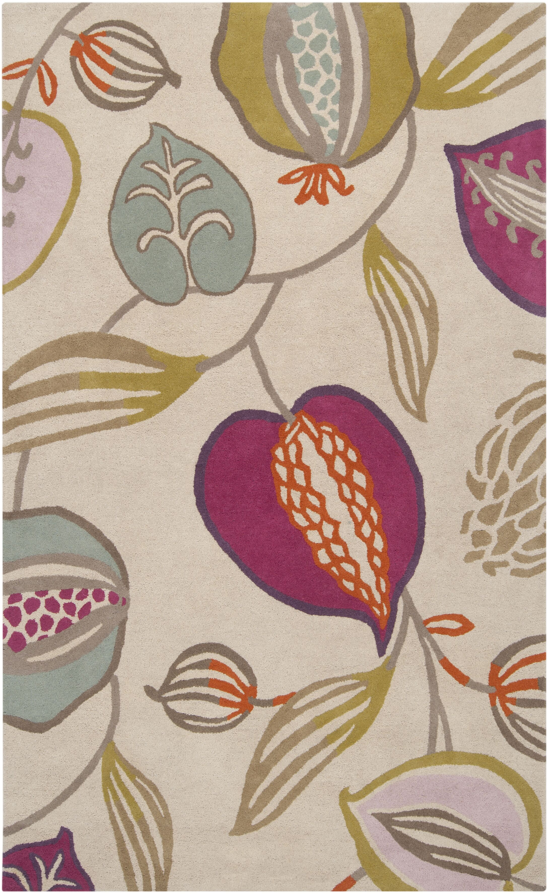 Harlequin Cobble Stone Ivory Floral Area Rug Rug Size: Rectangle 5' x 8'