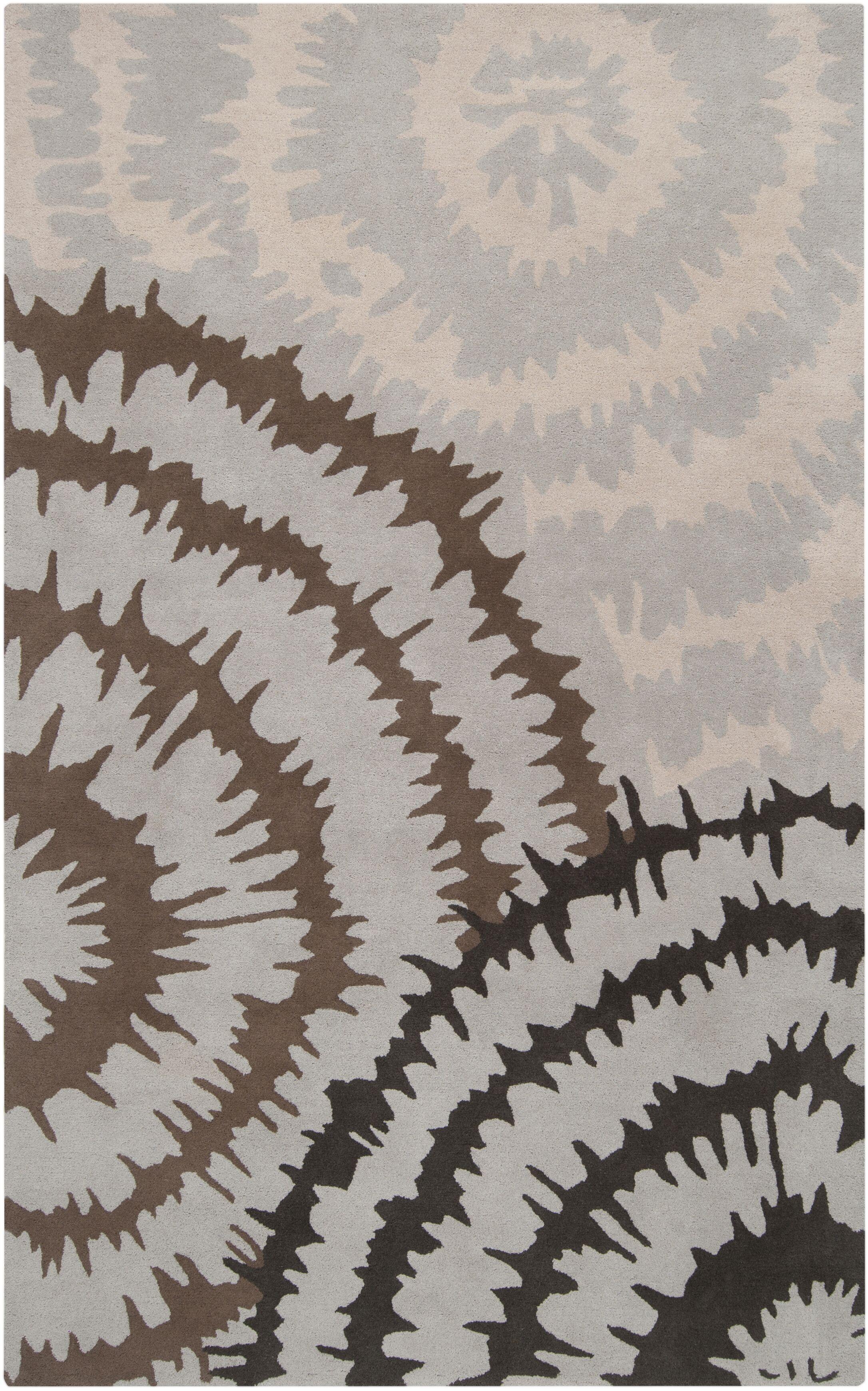 Harlequin Silvered Light Grey/Brown Floral Area Rug Rug Size: Rectangle 9' x 12'
