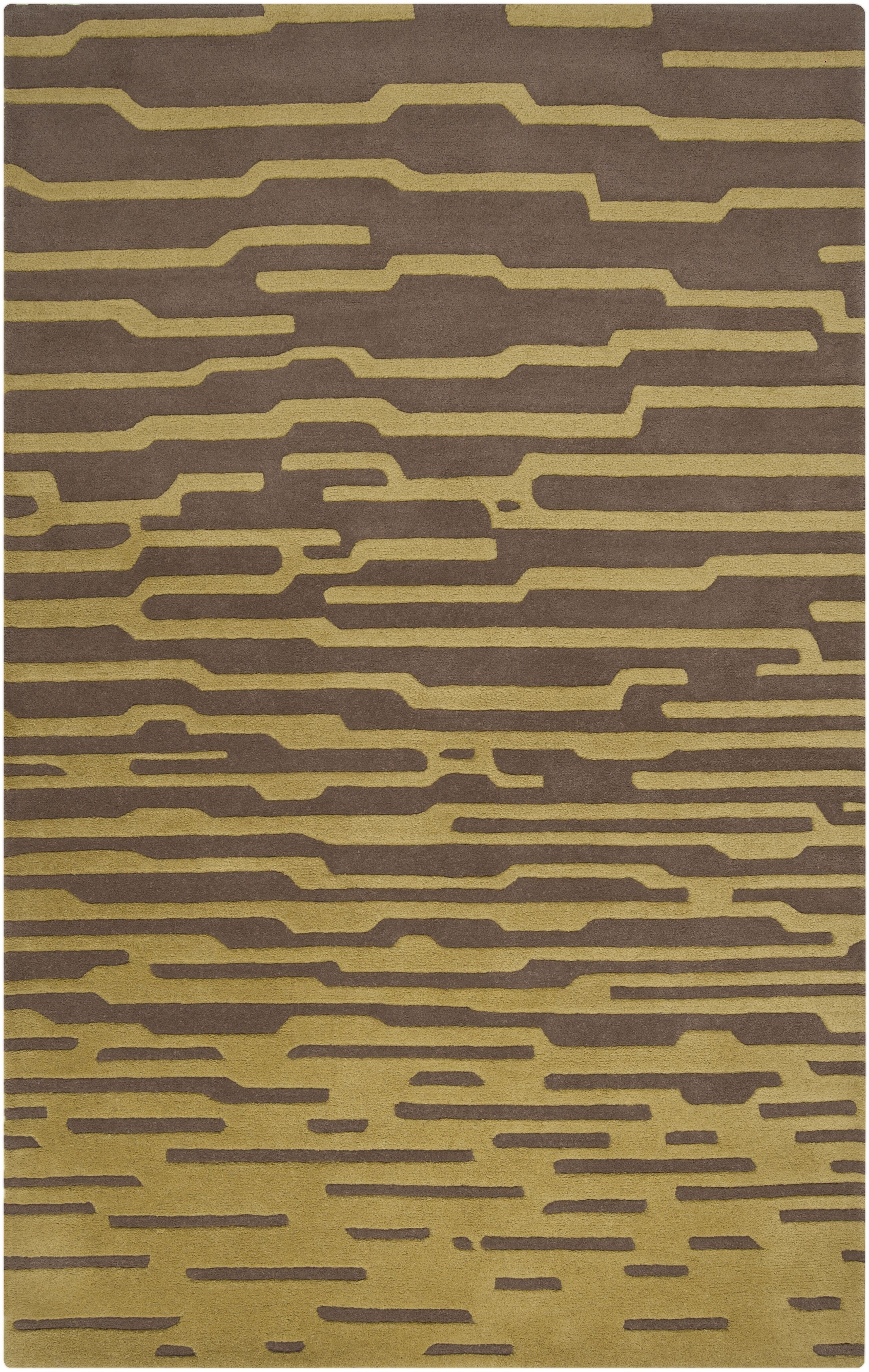 Harlequin Olive/Dark Taupe Geometric Area Rug Rug Size: Rectangle 9' x 12'