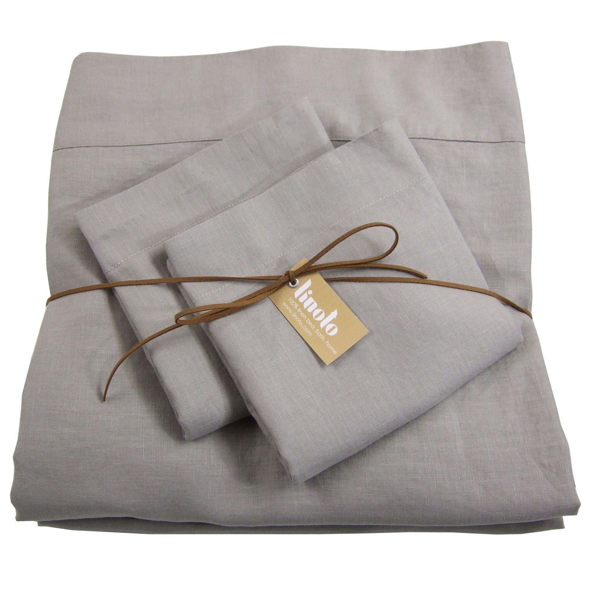 Linen Sheet Set Color: Warm Gray, Size: Queen