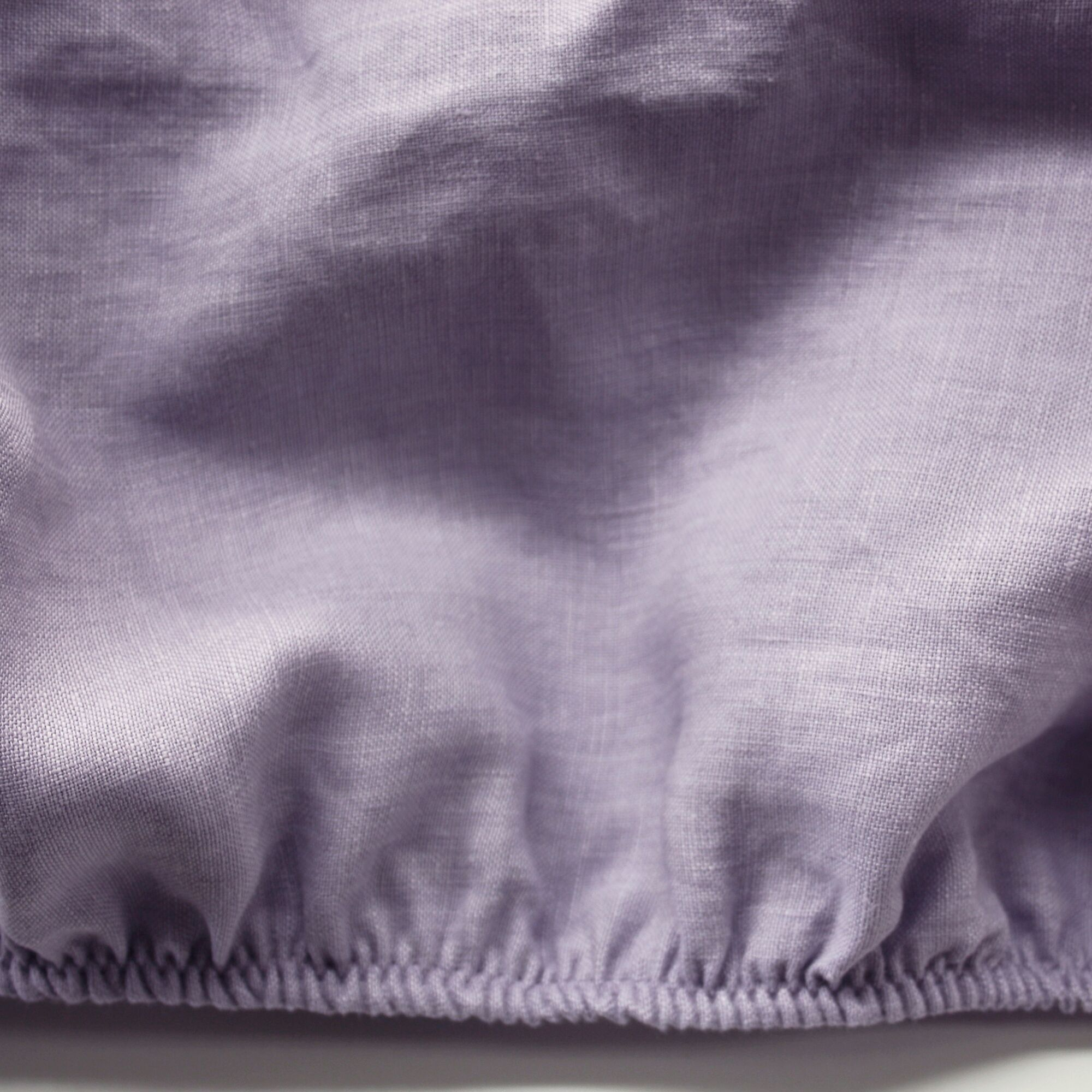 Linen Fitted Sheet Size: Extra-Long Twin, Color: Lavender